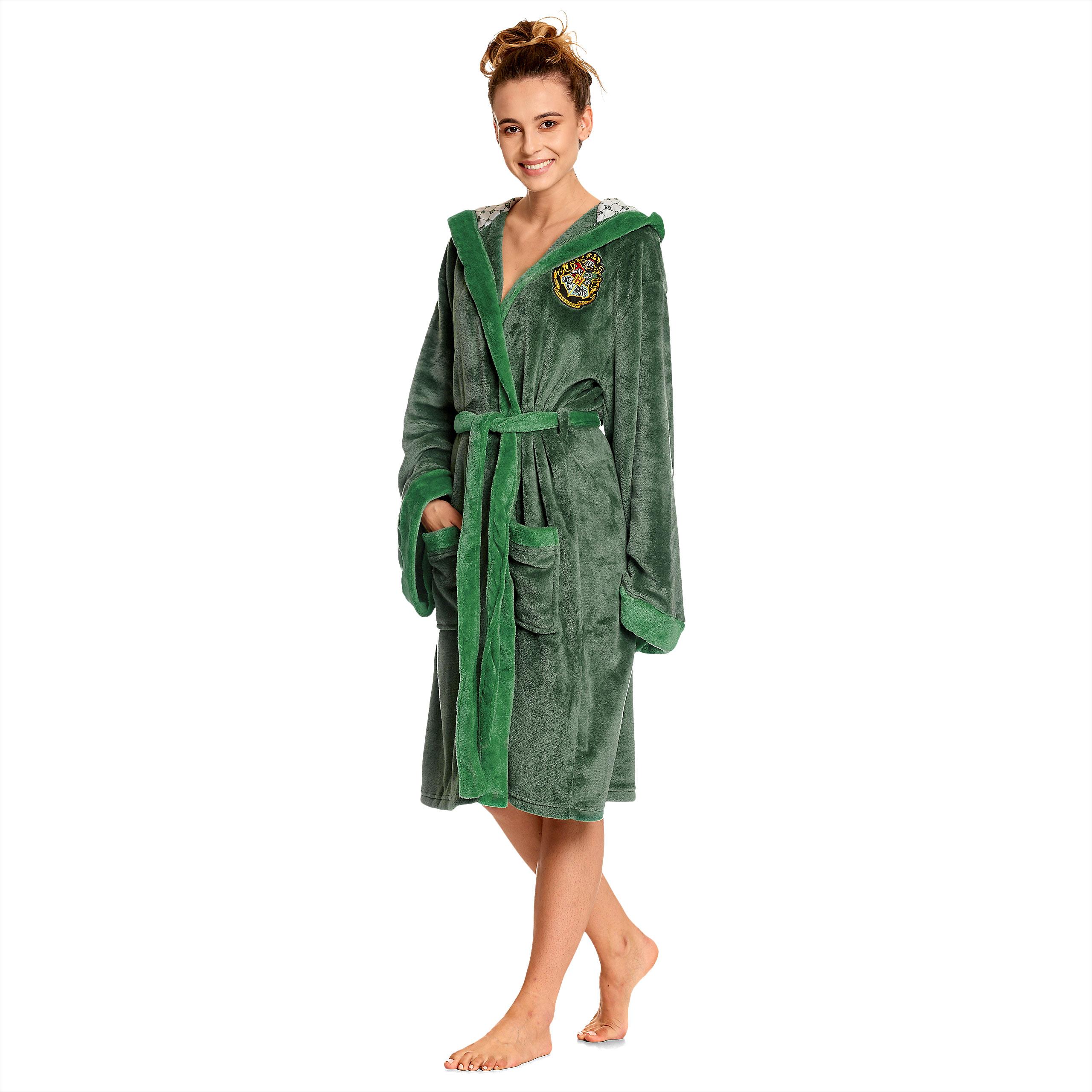 Harry Potter - Slytherin Wappen Bademantel grün