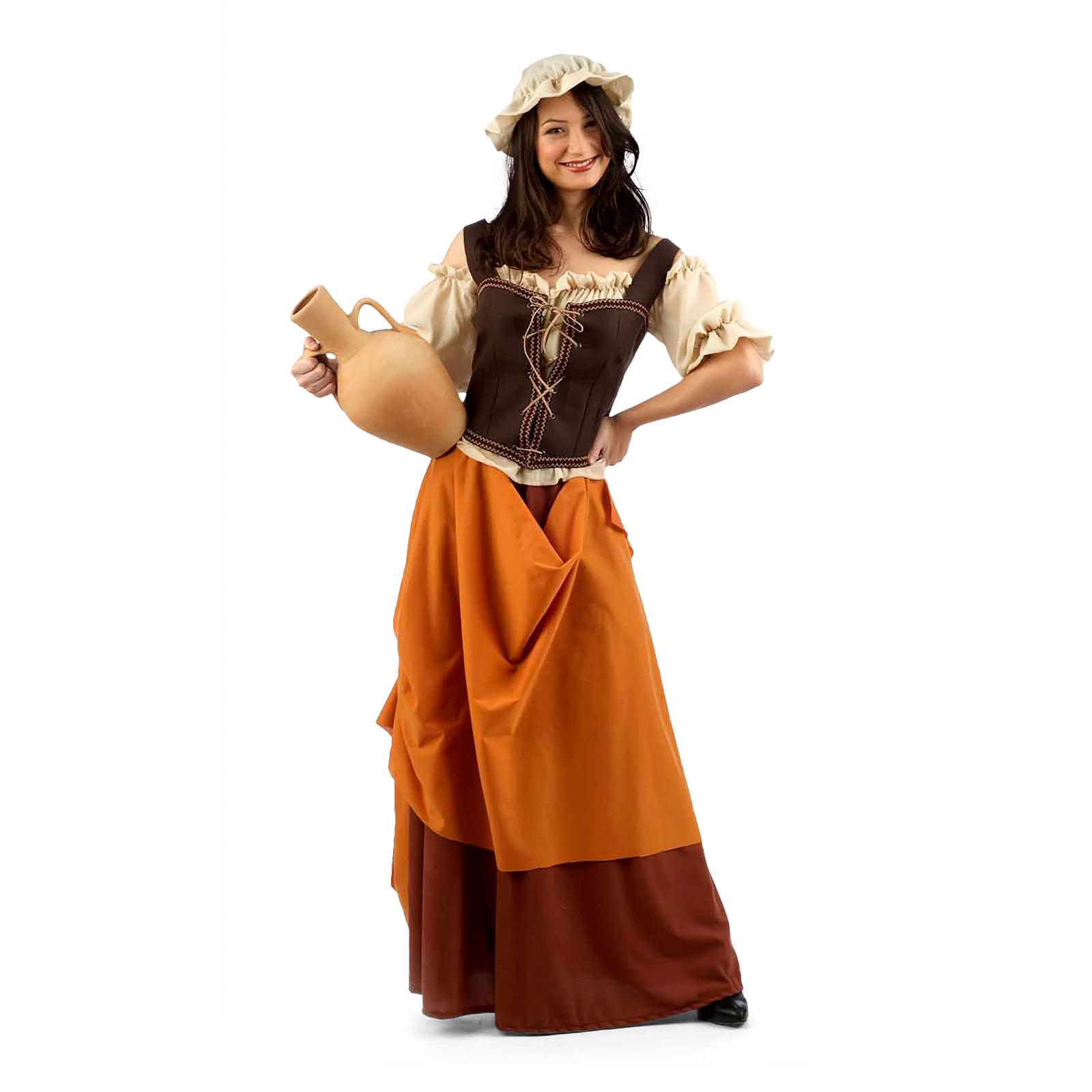 Mittelalterliche Schankmaid - Kostüm Damen