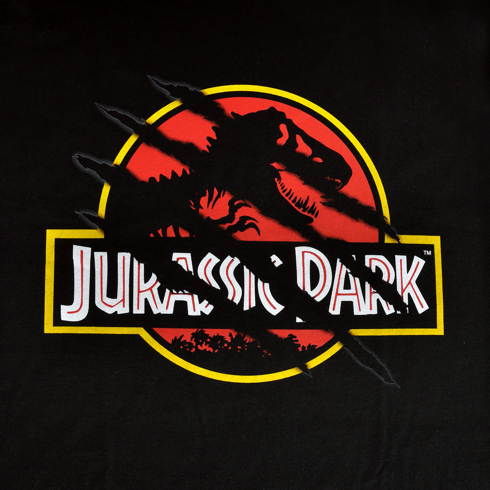Jurassic Park - Ripped Movie Logo T-Shirt schwarz