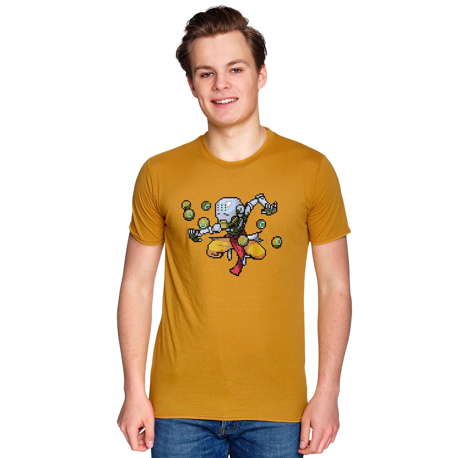 Overwatch - Zenyatta Pixel T-Shirt gelb