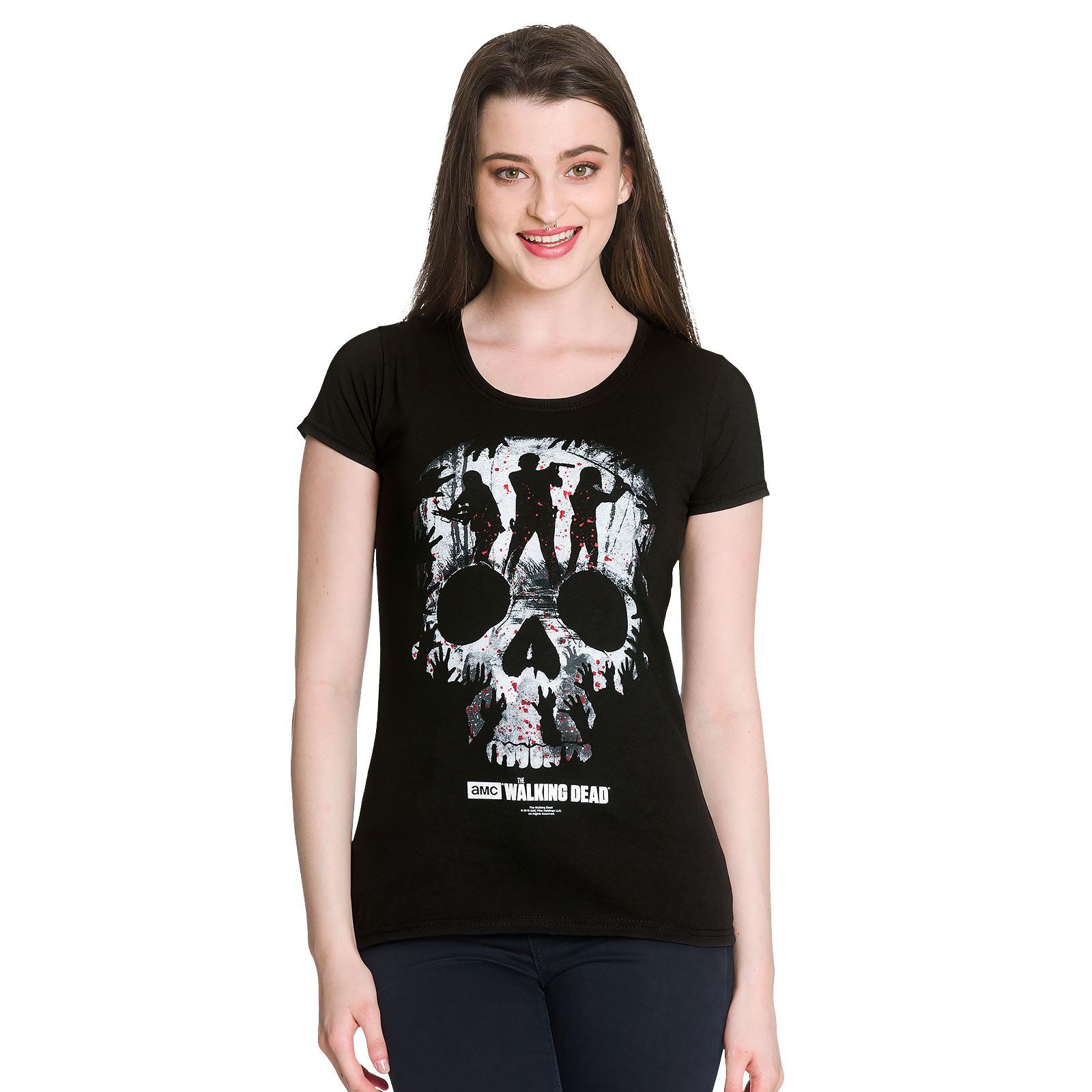 Walking Dead - Skull T-Shirt Damen