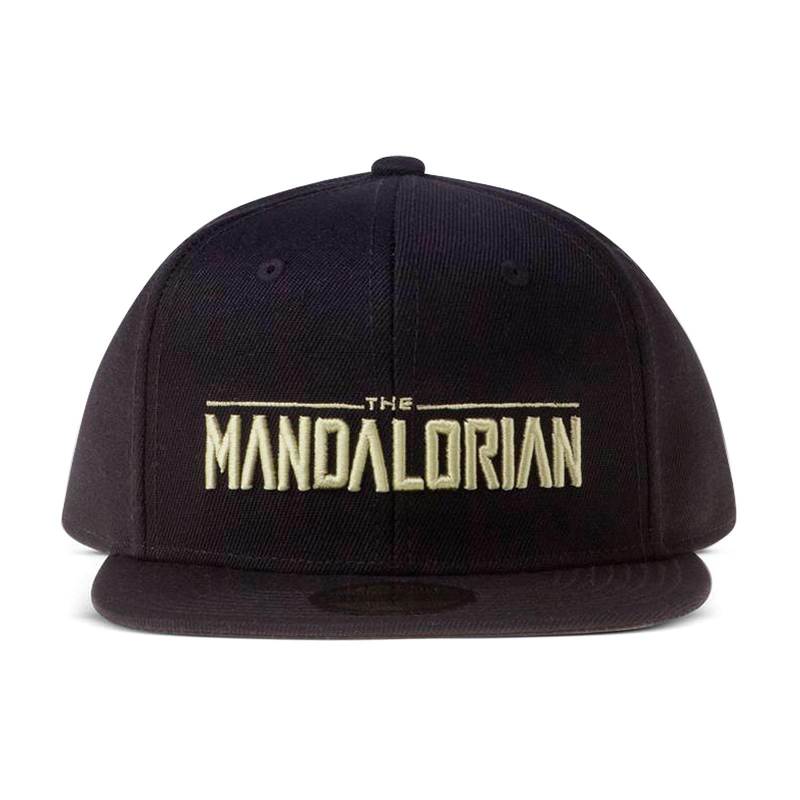 The Mandalorian Logo Snapback Cap schwarz - Star Wars