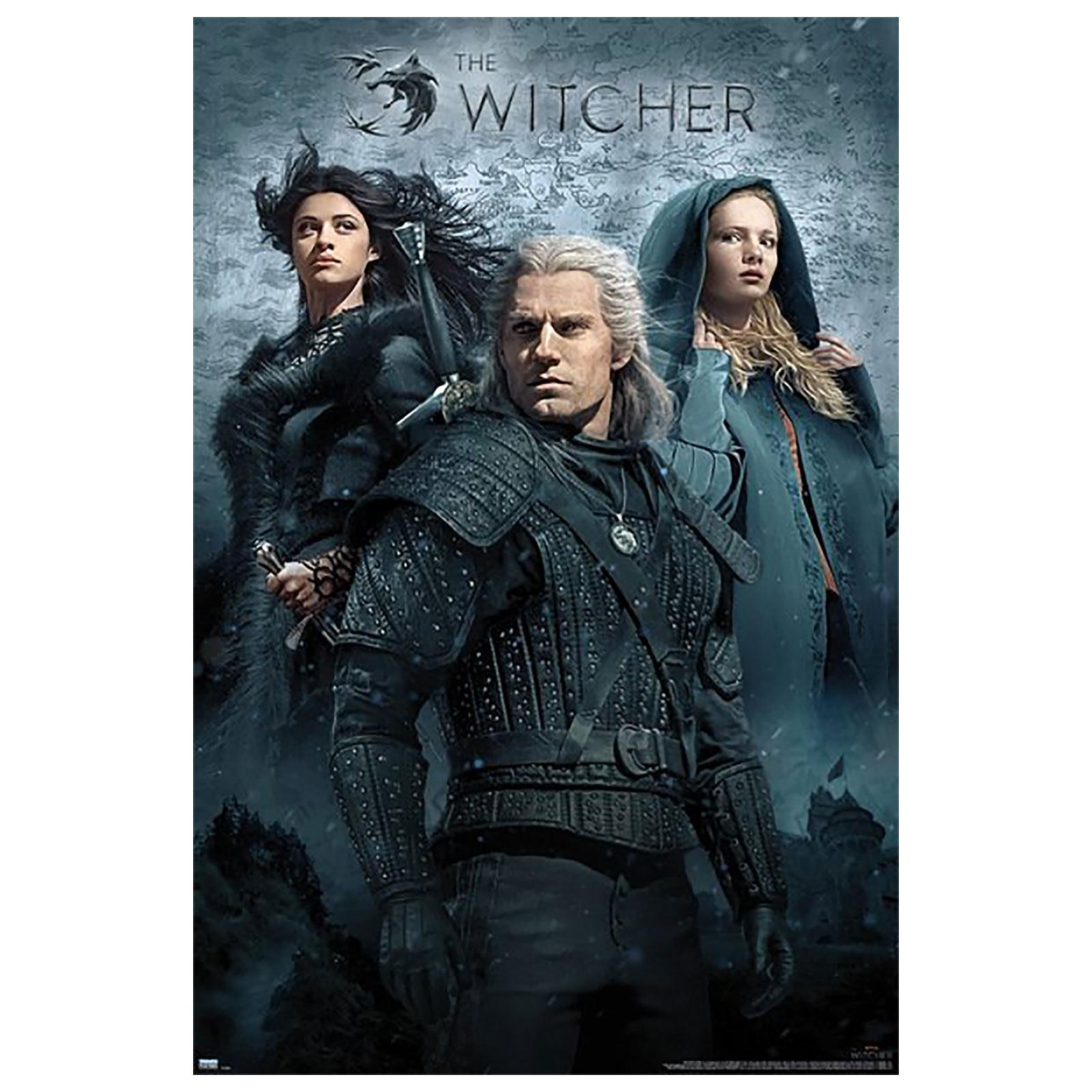 Witcher - Geralt, Ciri und Yennefer Maxi Poster