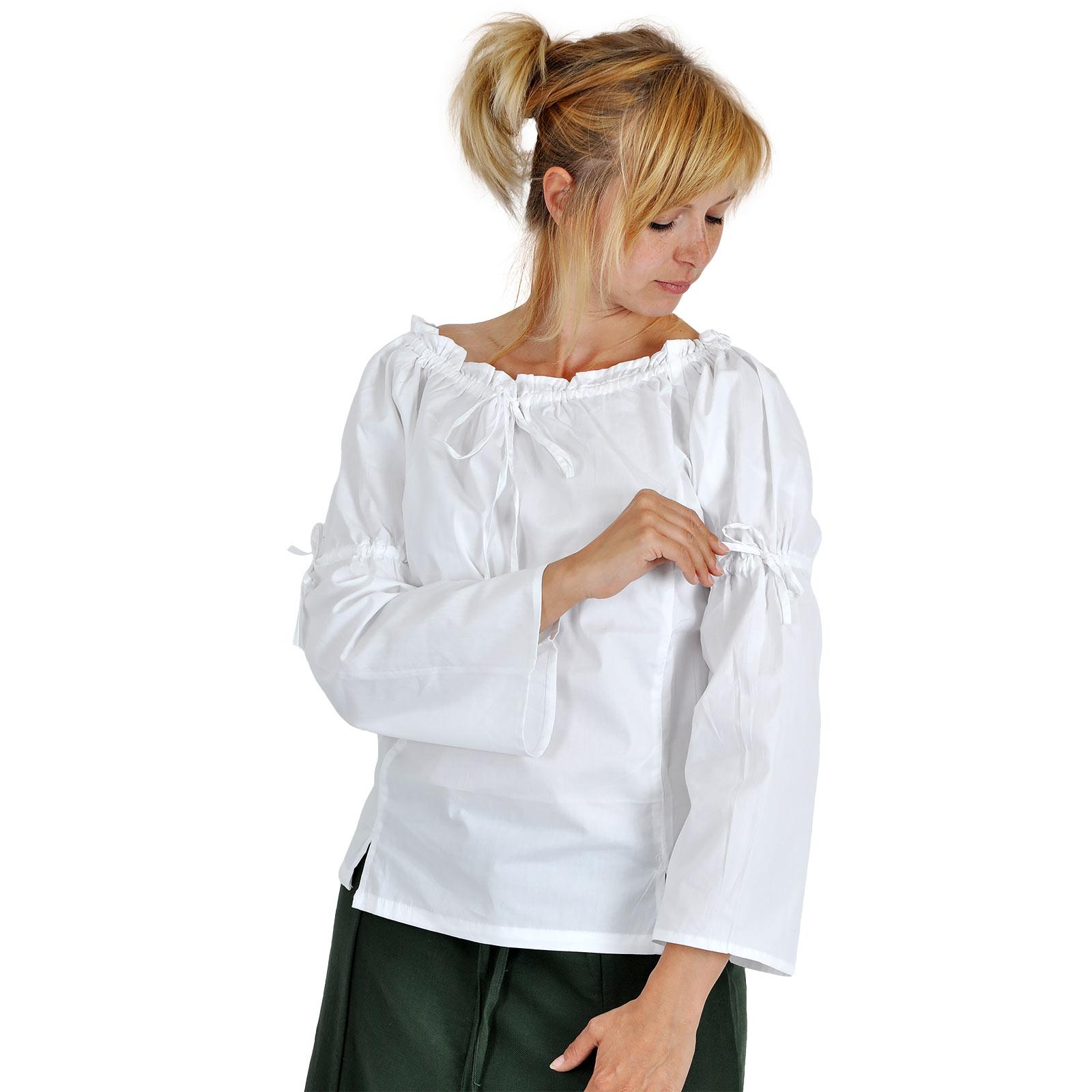 Mittelalter Bluse Damen weiß