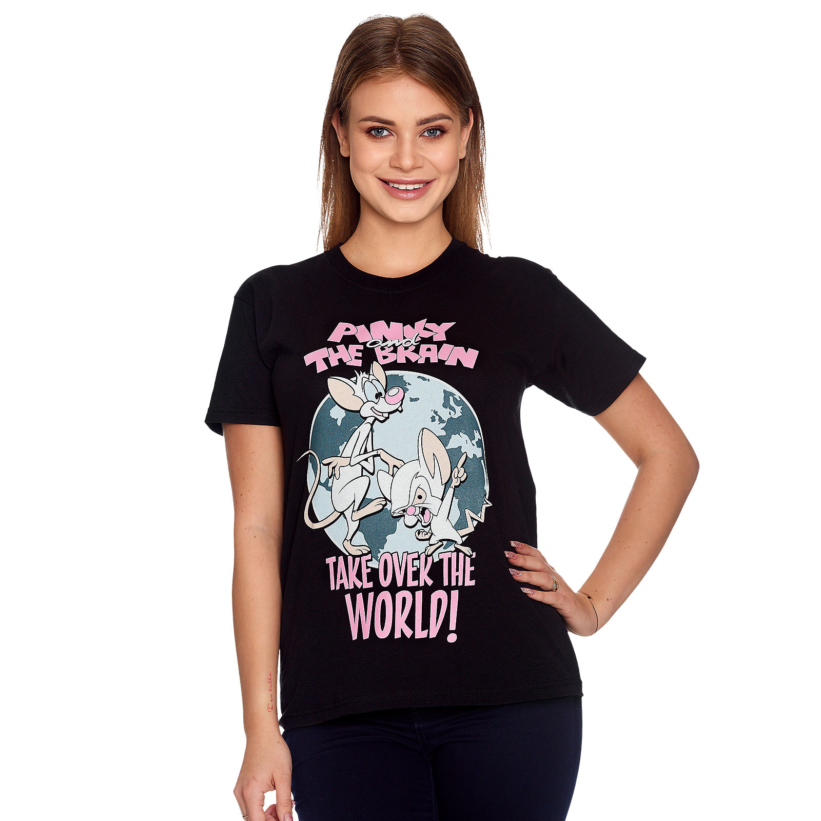 Pinky und der Brain - Take Over The World T-Shirt schwarz
