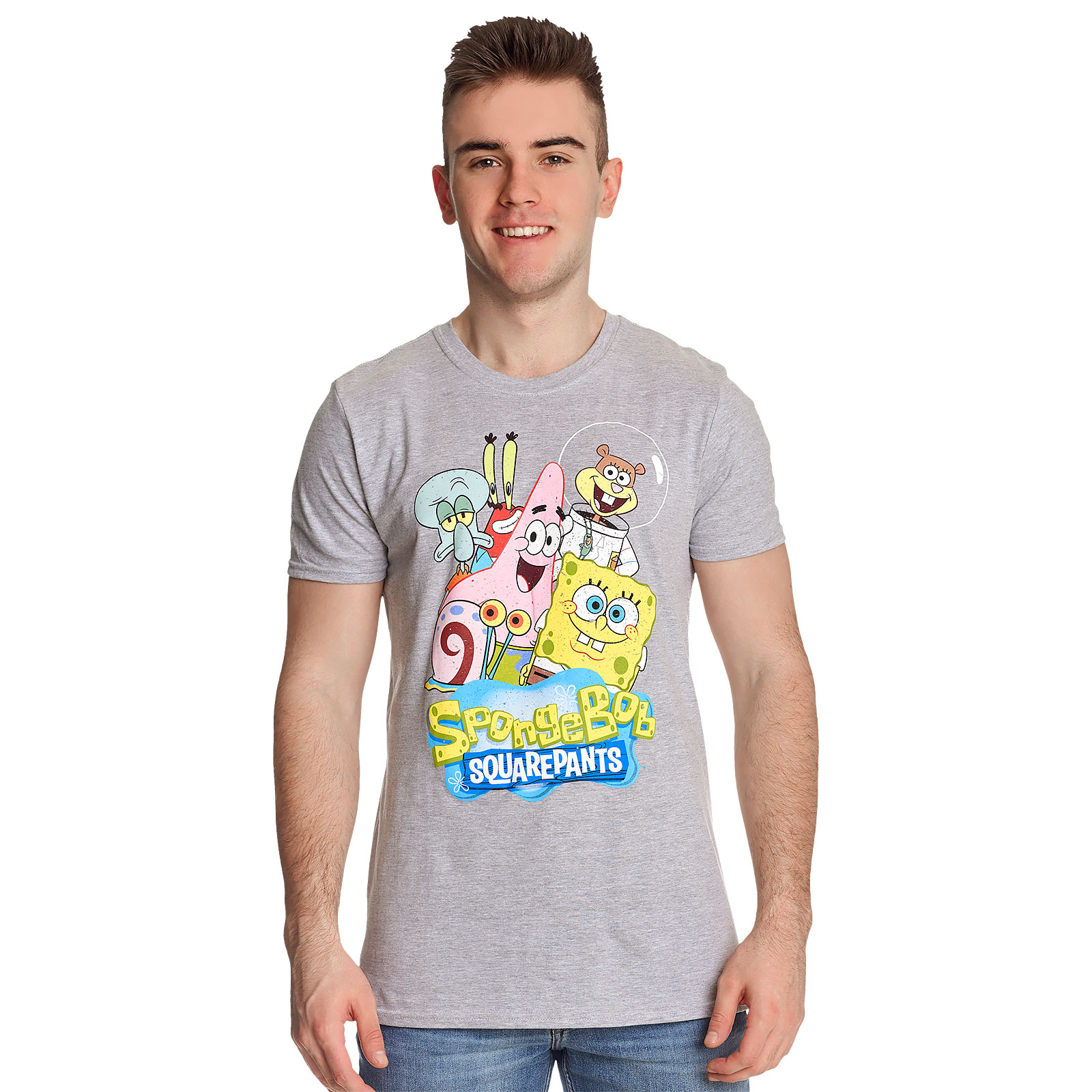 SpongeBob - Friends Together T-Shirt grau