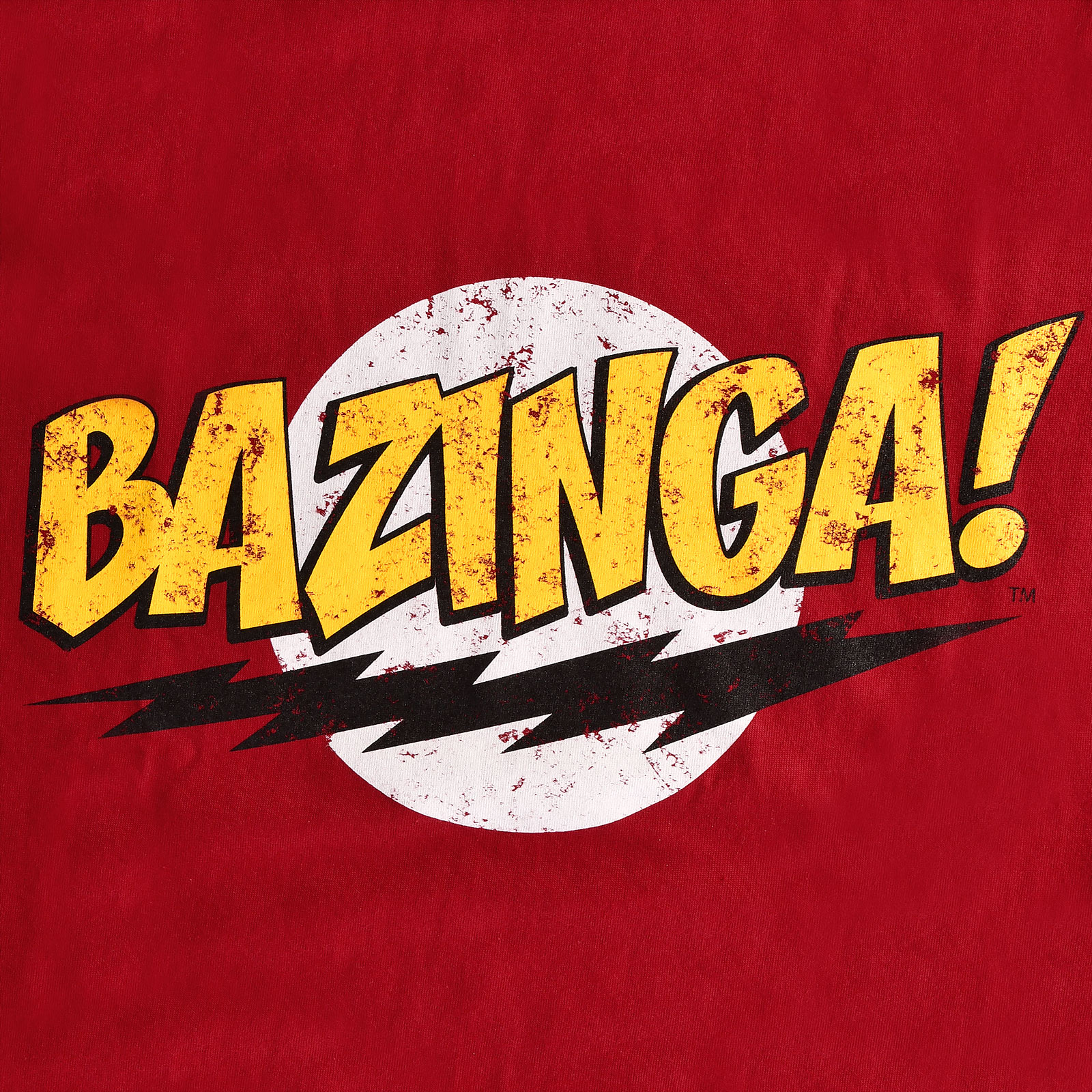 Big Bang Theory - Bazinga Full Size T-Shirt rot