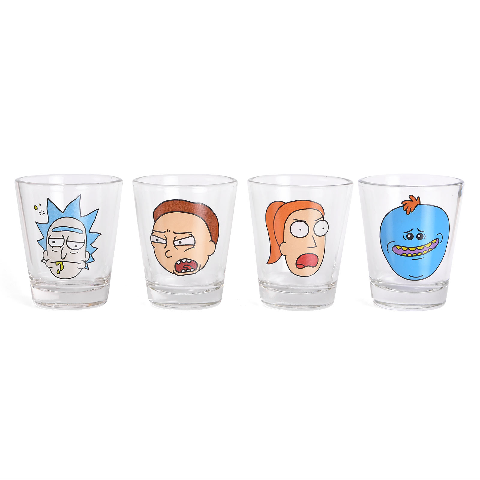 Rick and Morty - Faces Shots Gläserset