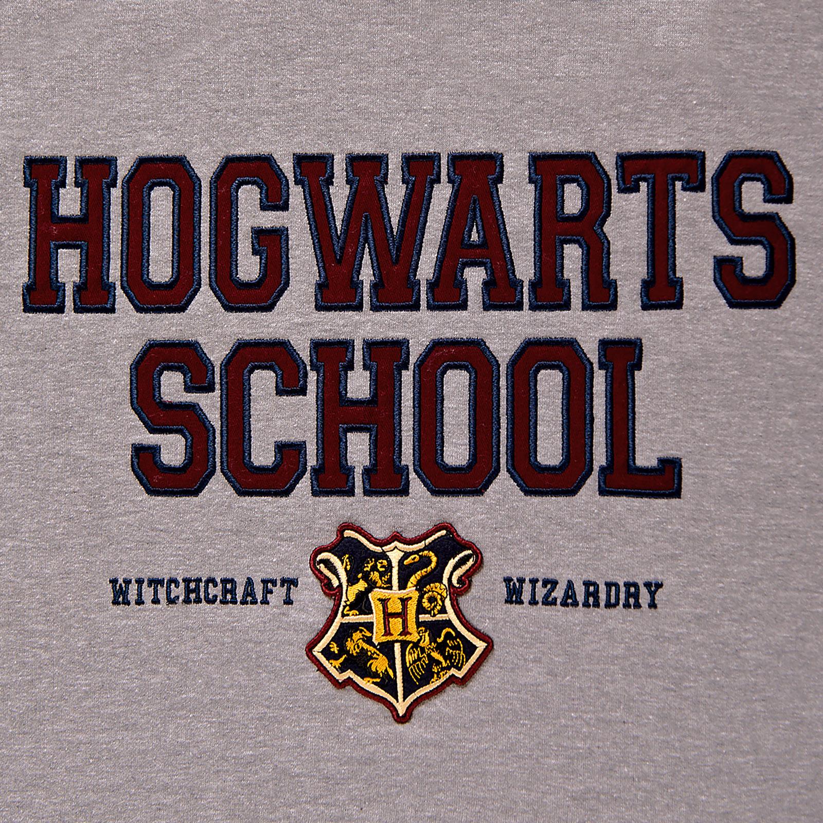 Harry Potter - Hogwarts School Hoodie grau