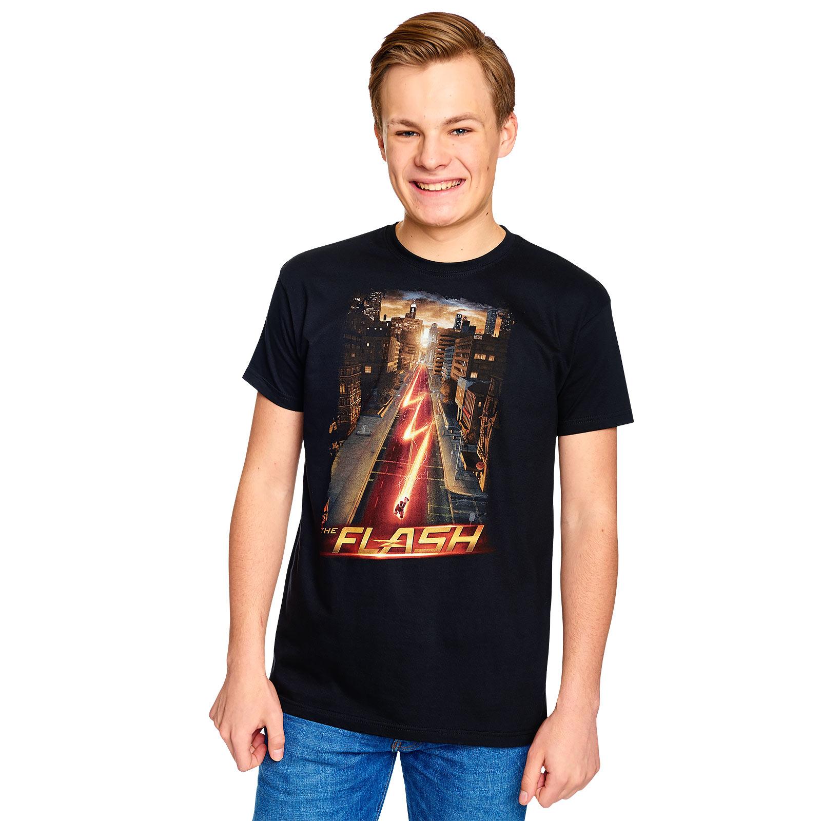 Flash - Night Run T-Shirt schwarz