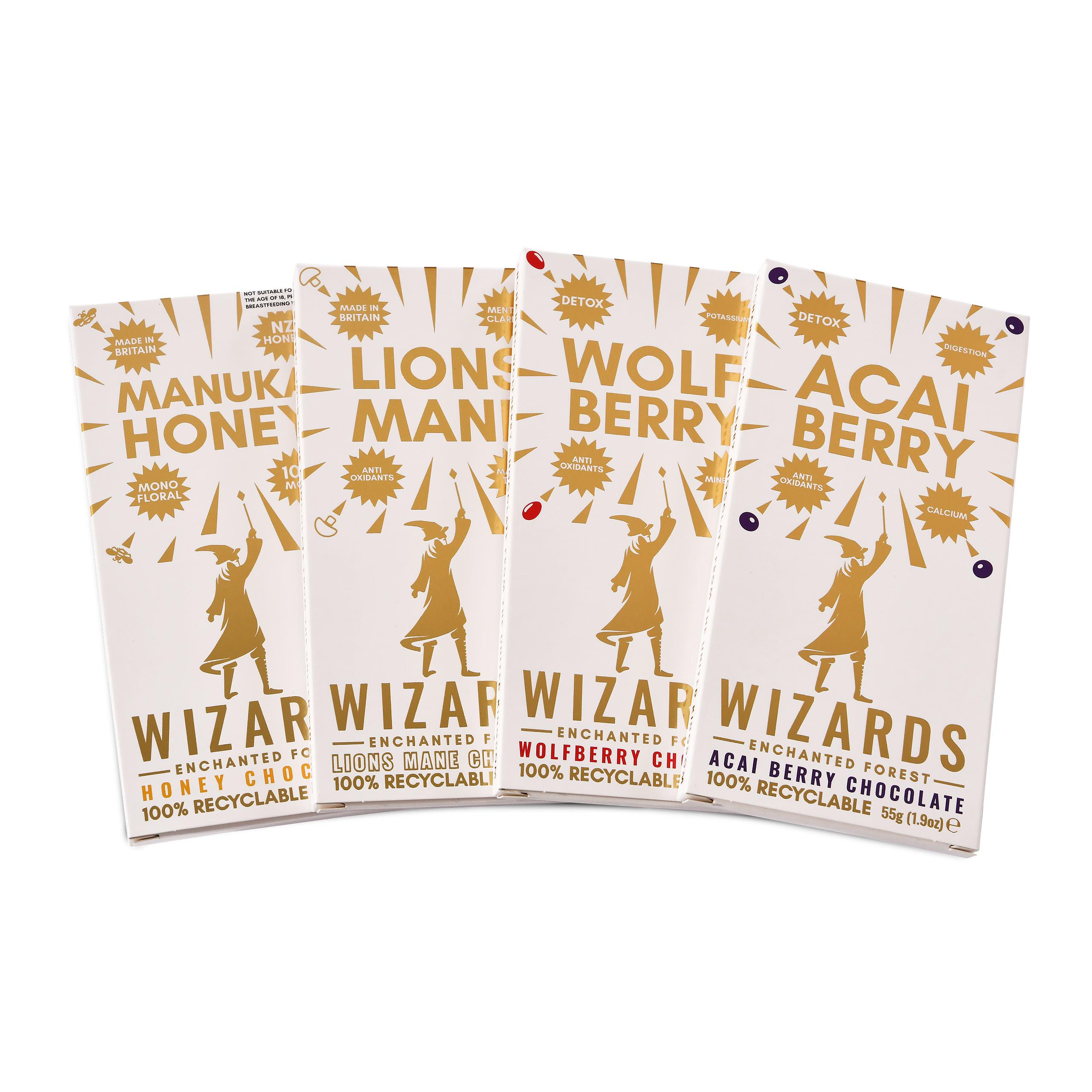 Wizards Magic - Enchanted Forest Selection Schokolade 4 Tafeln