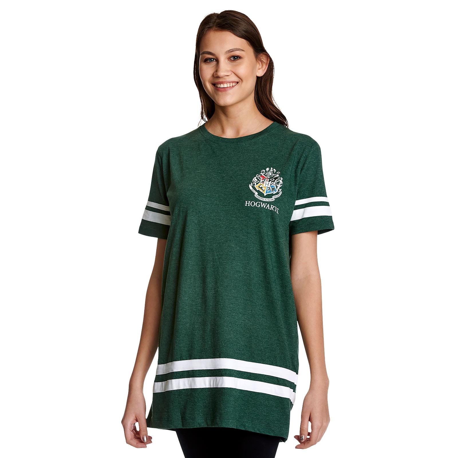 Slytherin Sucher Malfoy Oversize T-Shirt Damen grün - Harry Potter