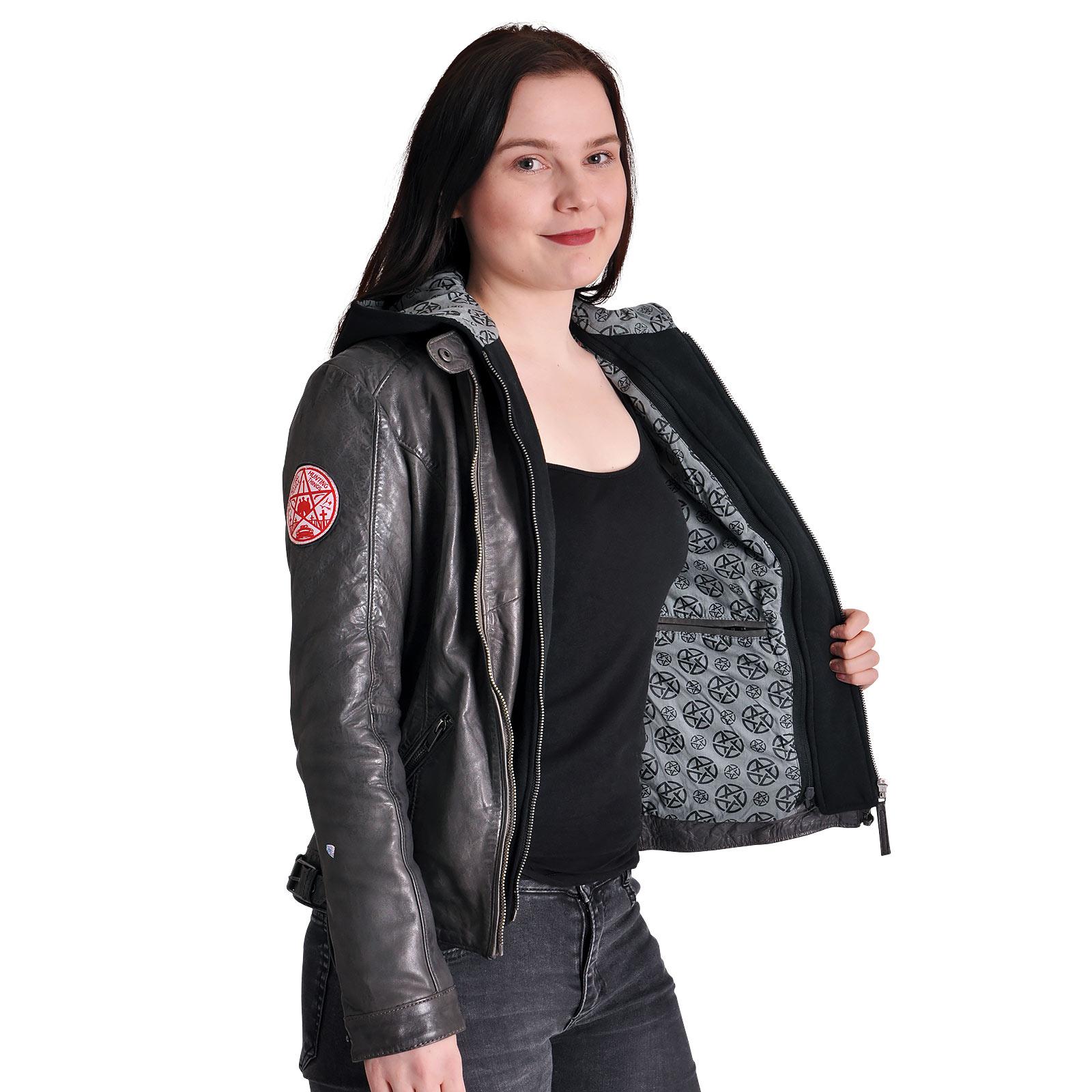 Supernatural - Anti Possession Symbol Lederjacke Damen