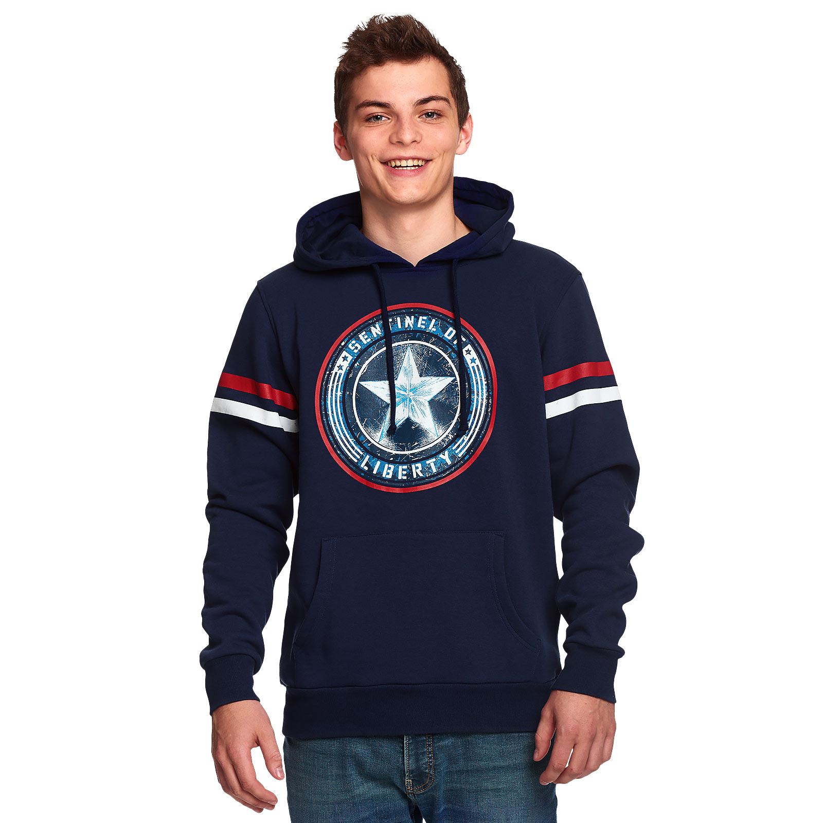 Captain America - Sentinel of Liberty Hoodie blau