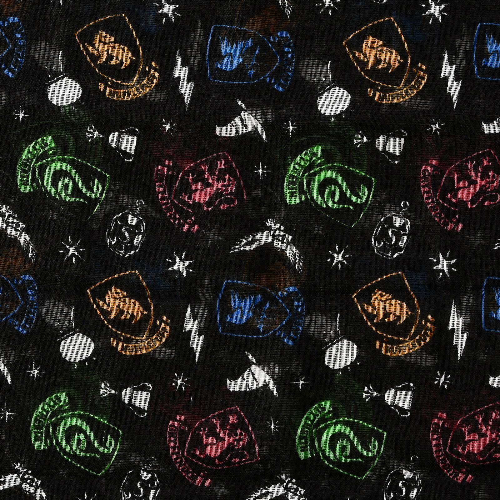Harry Potter - Hogwarts Wappen Loop Schal schwarz