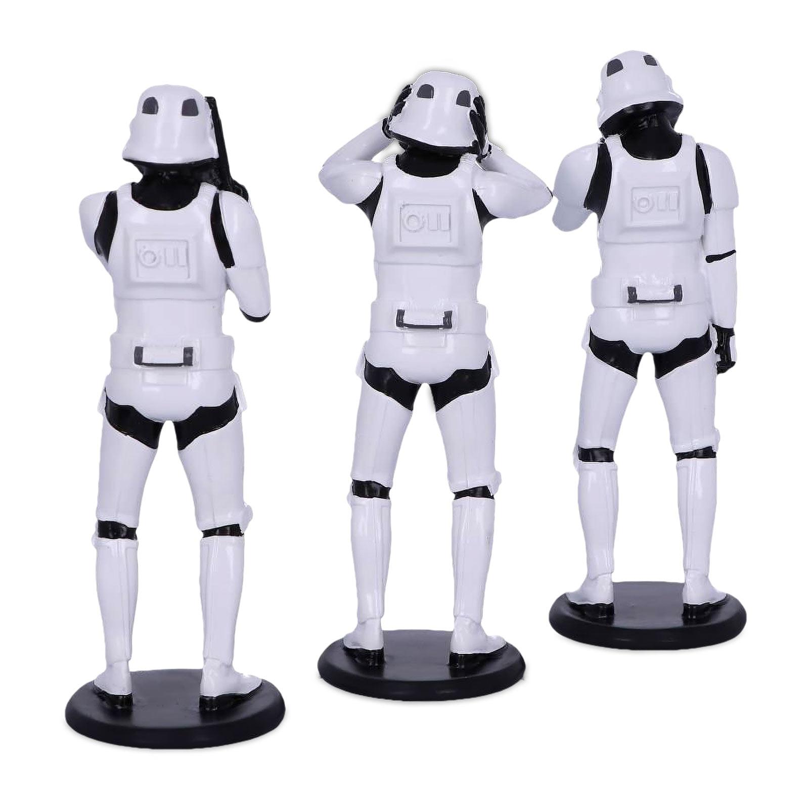 Original Stormtrooper Don't See Hear Speak Figurenset
