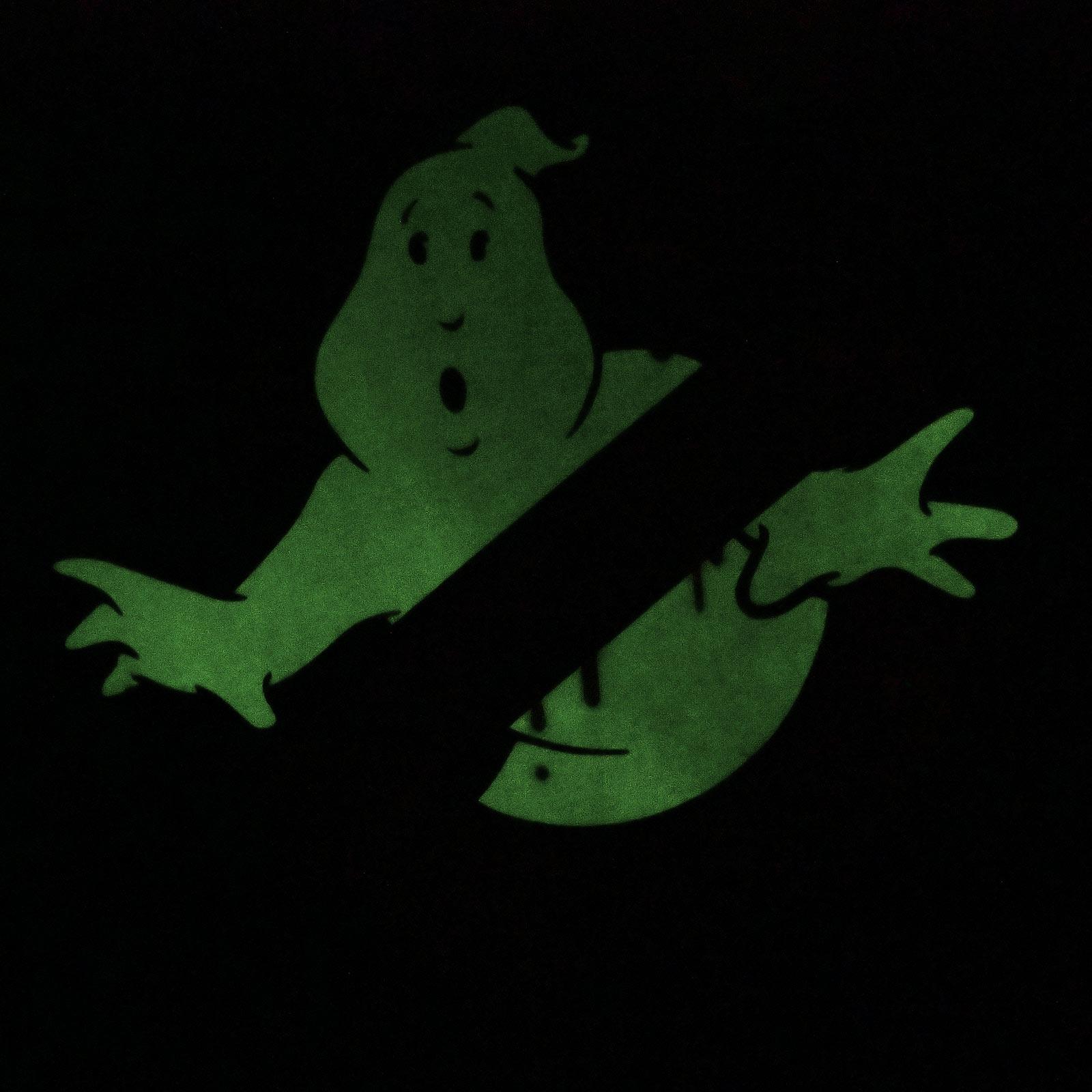 Ghostbusters - Glow in the Dark Logo T-Shirt schwarz