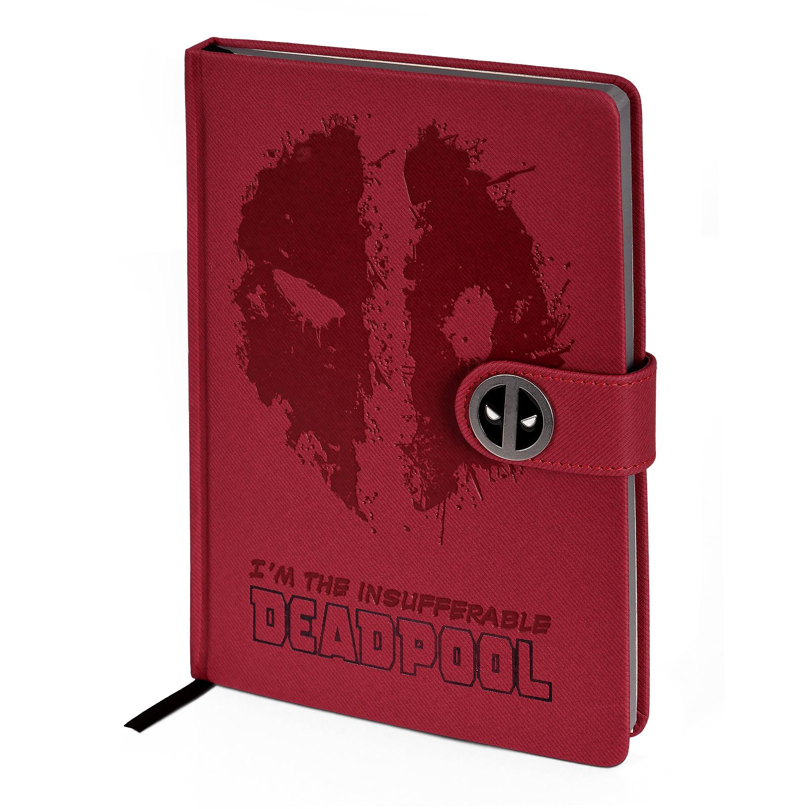 Deadpool - Splatter Logo Premium Notizbuch A5