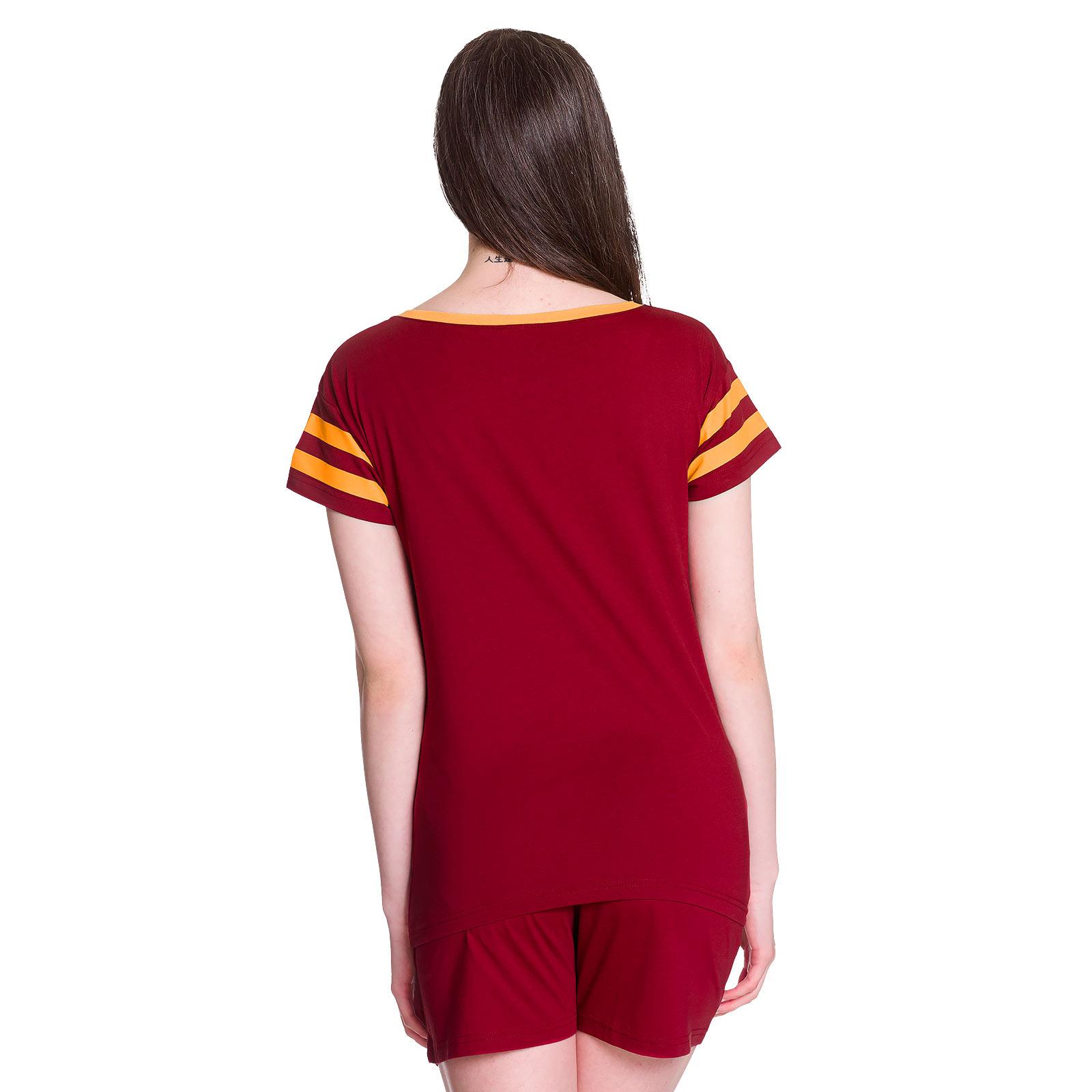 Harry Potter - Gryffindor Pyjama kurz Damen