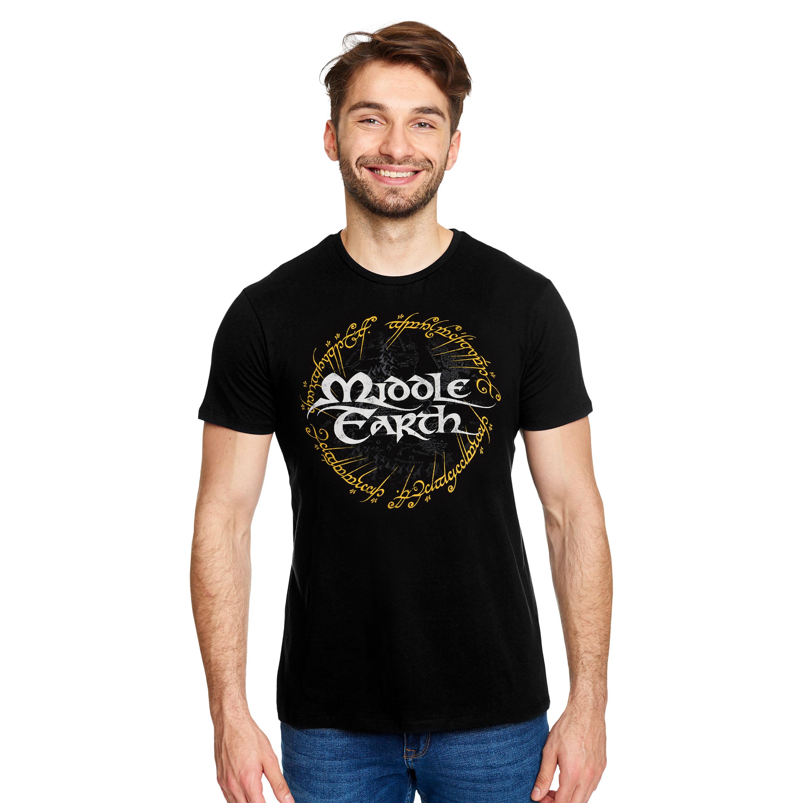 Herr der Ringe - Mittelerde T-Shirt schwarz