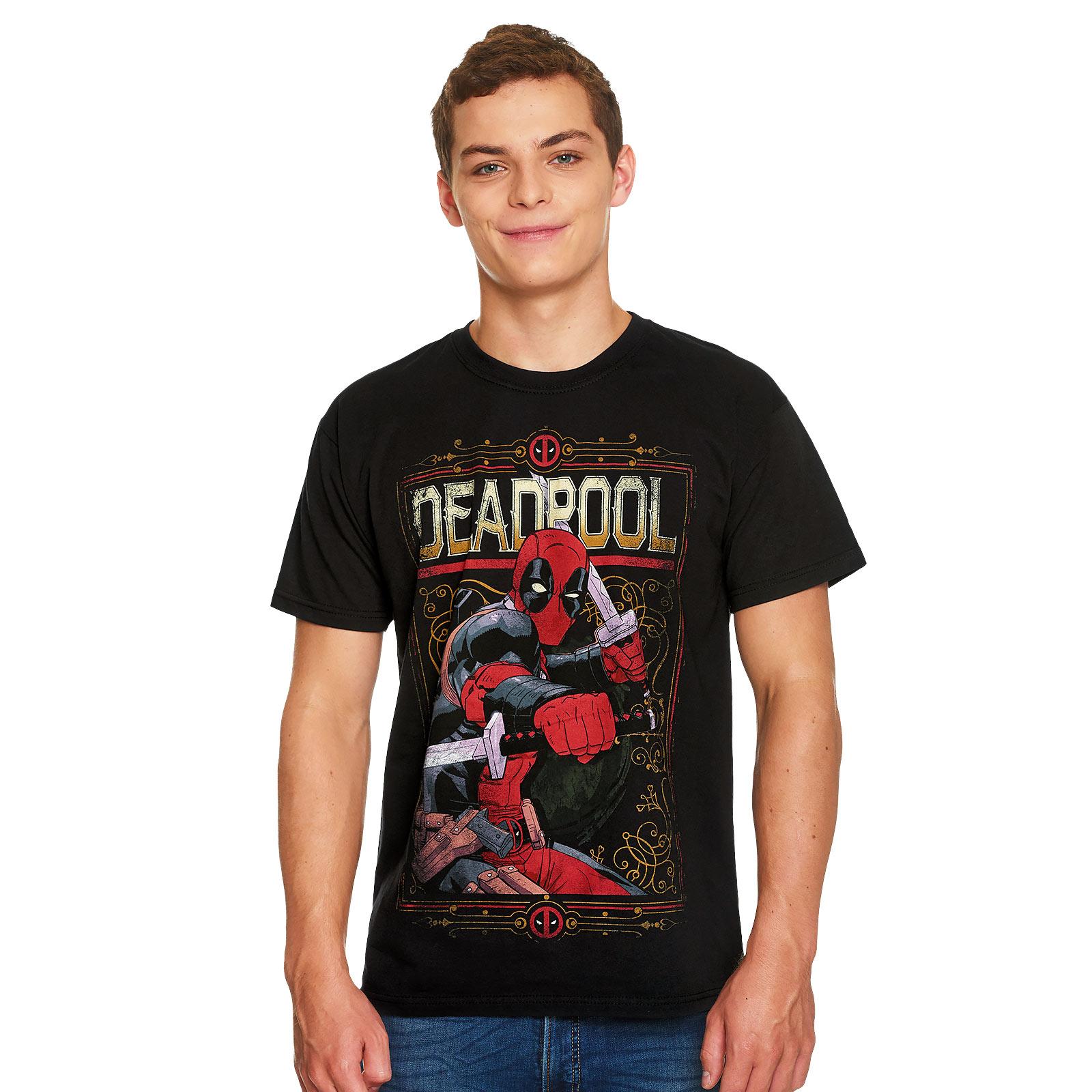 Deadpool - Ready to Fight T-Shirt schwarz