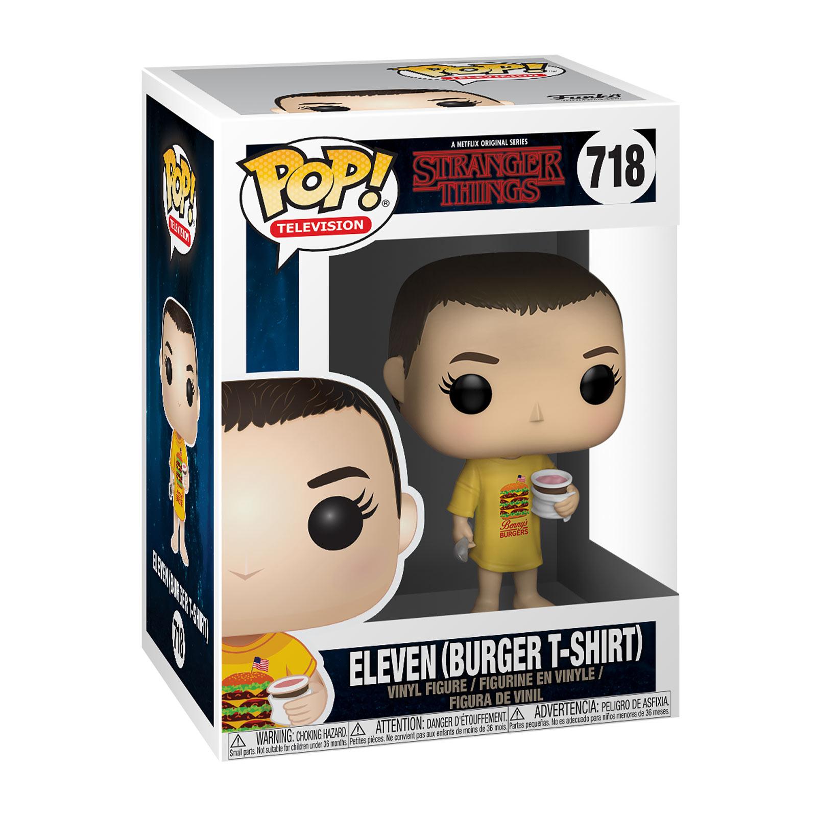 Stranger Things - Eleven mit Burger T-Shirt Funko Pop Figur