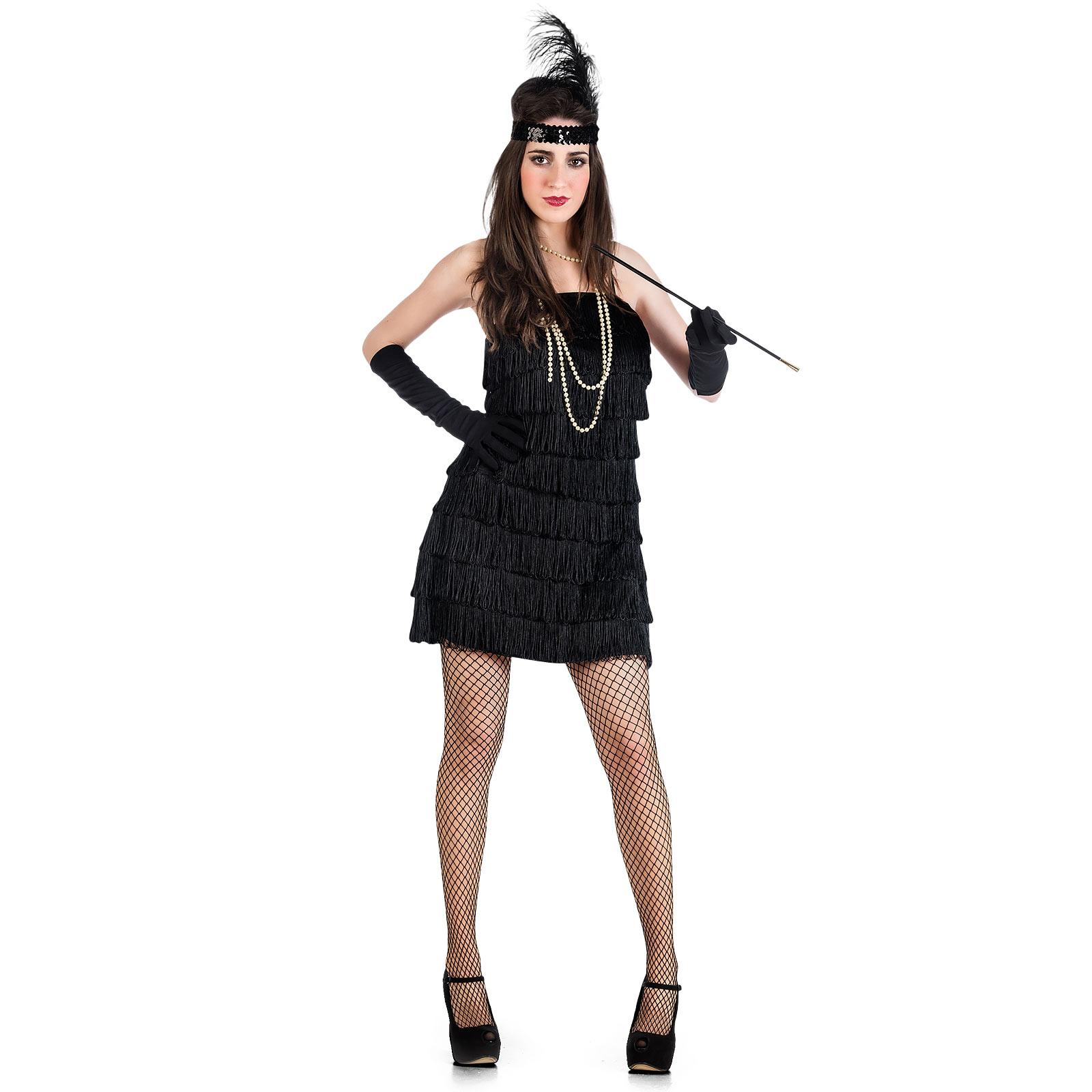 Charleston Mini-Kleid - Kostüm Damen