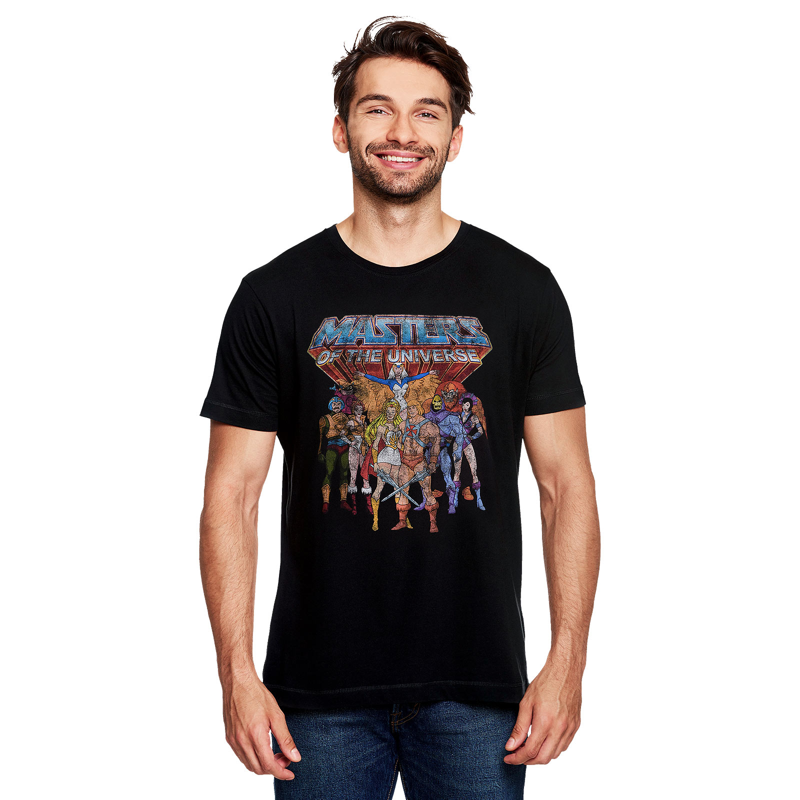 Masters of the Universe - Characters Distressed T-Shirt schwarz
