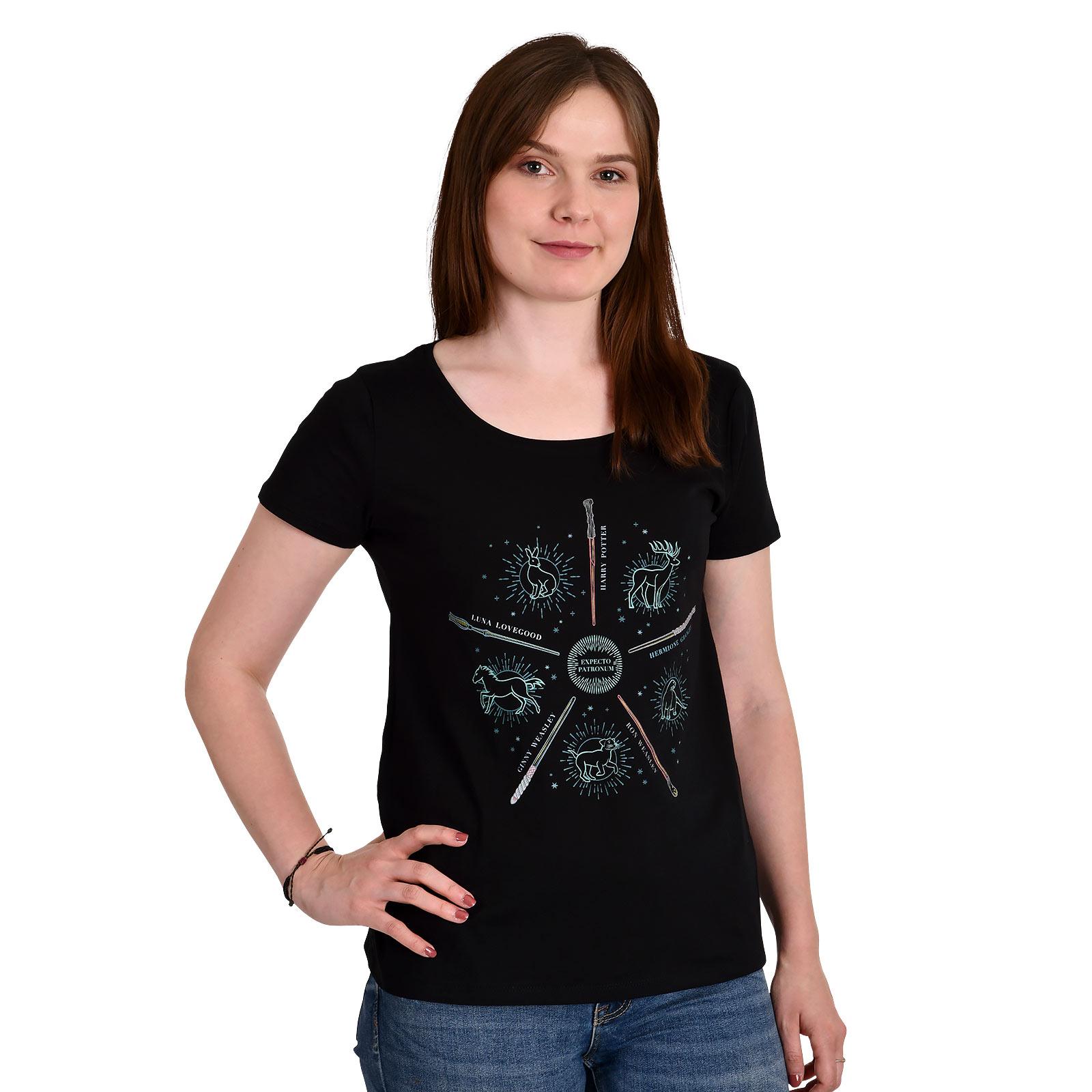 Harry Potter - Patronus Friends T-Shirt Damen schwarz
