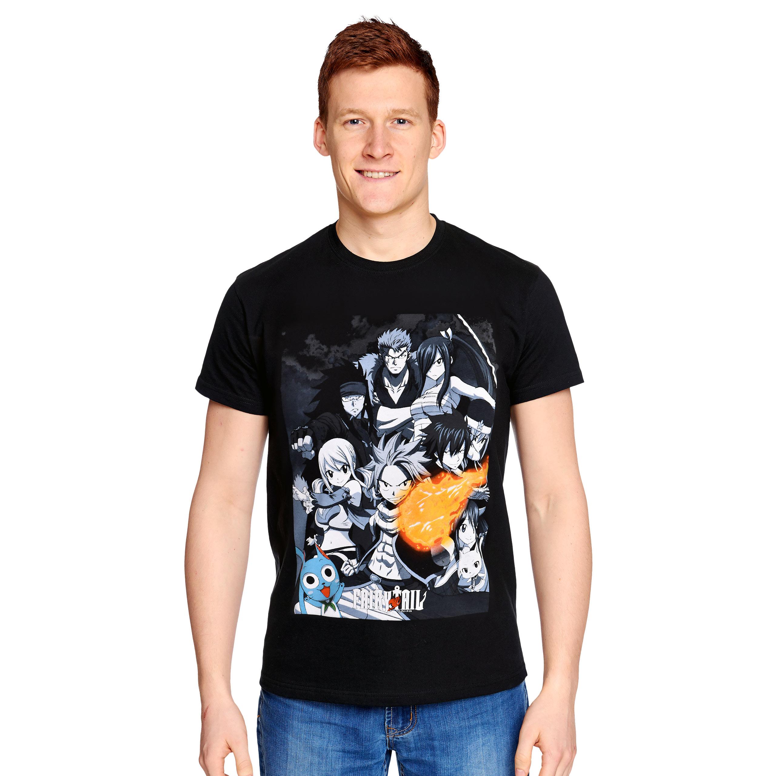 Fairy Tail - Team Attack T-Shirt schwarz