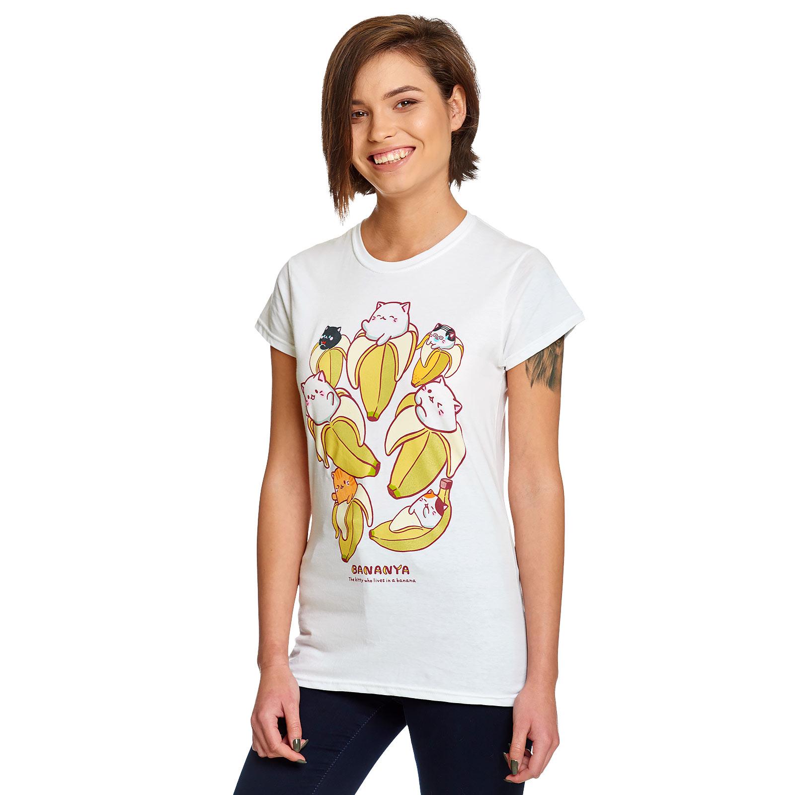 Bananya - Characters T-Shirt Damen weiß
