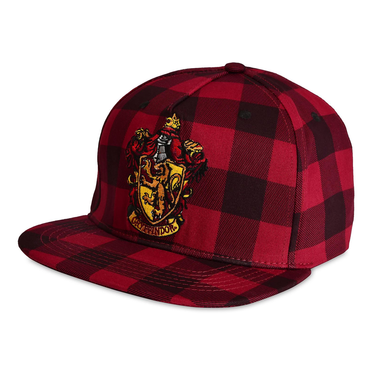 Harry Potter - Gryffindor Wappen Karo Snapback Cap
