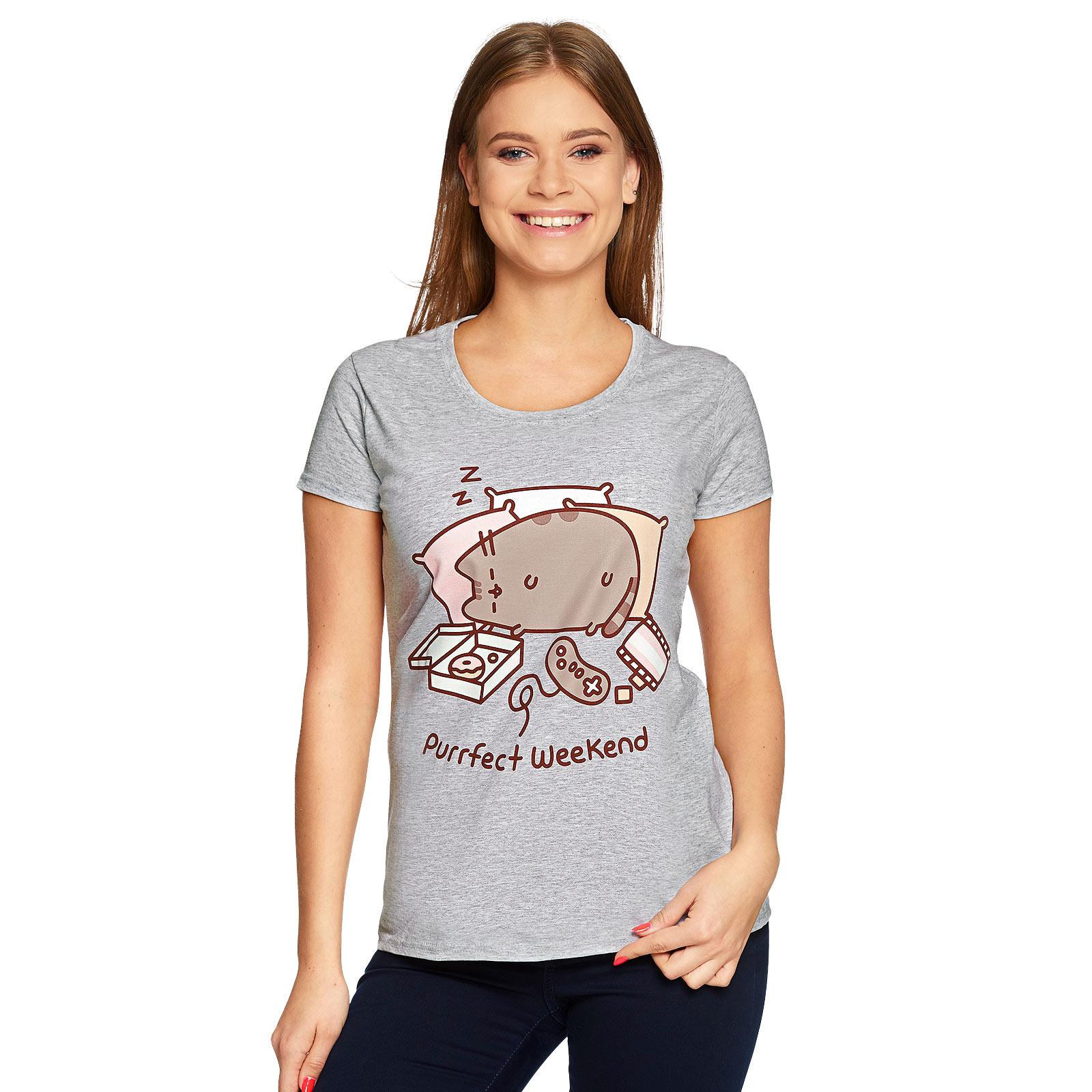 Pusheen - Purrfect Weekend T-Shirt Damen grau