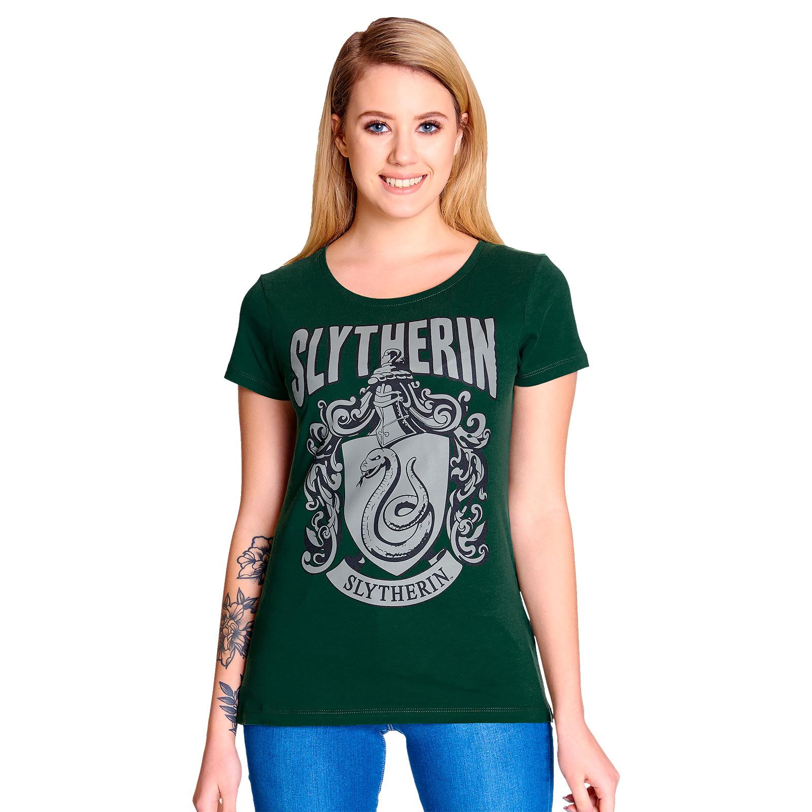 Harry Potter - Slytherin Wappen T-Shirt Damen grün