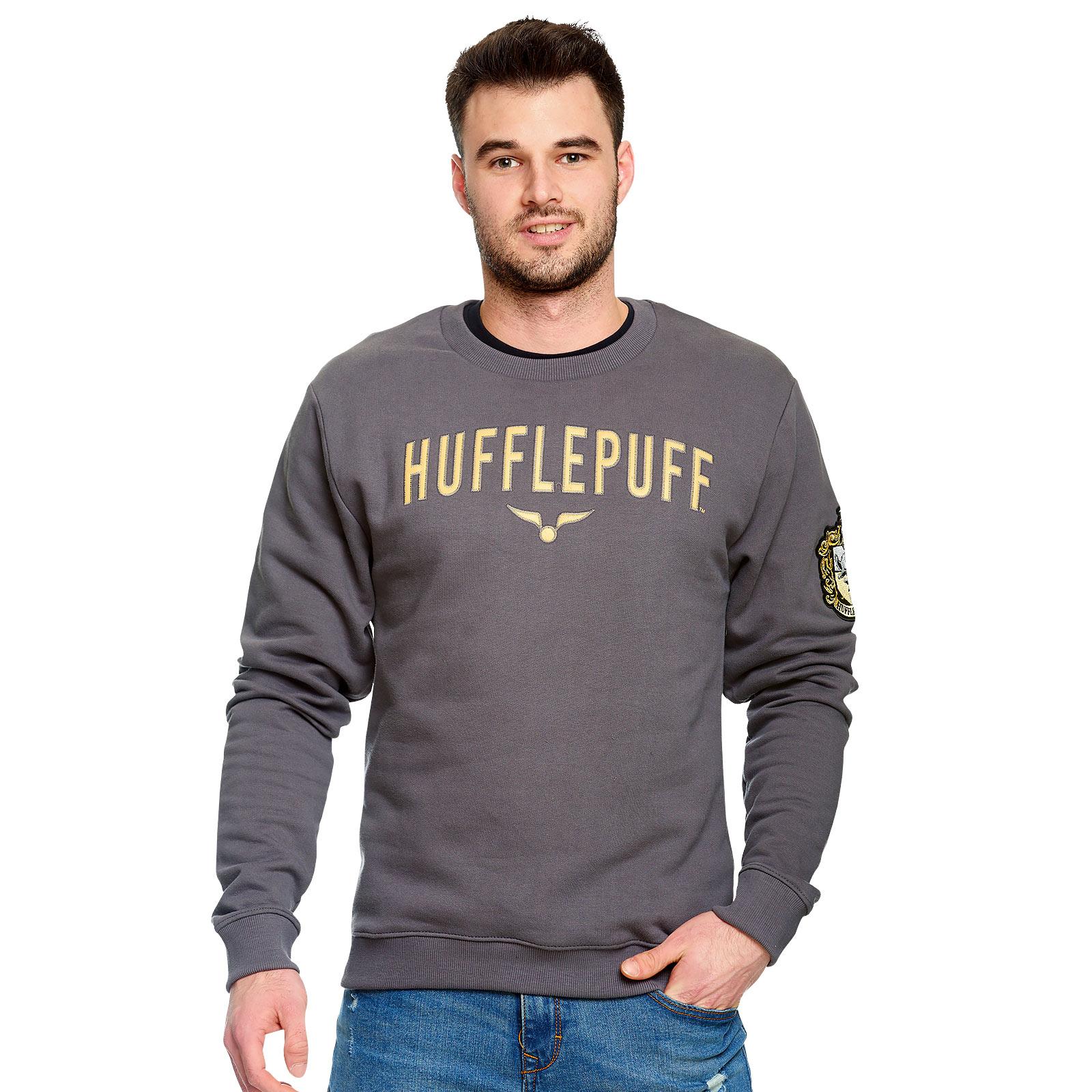 Harry Potter - Team Hufflepuff Sweater grau