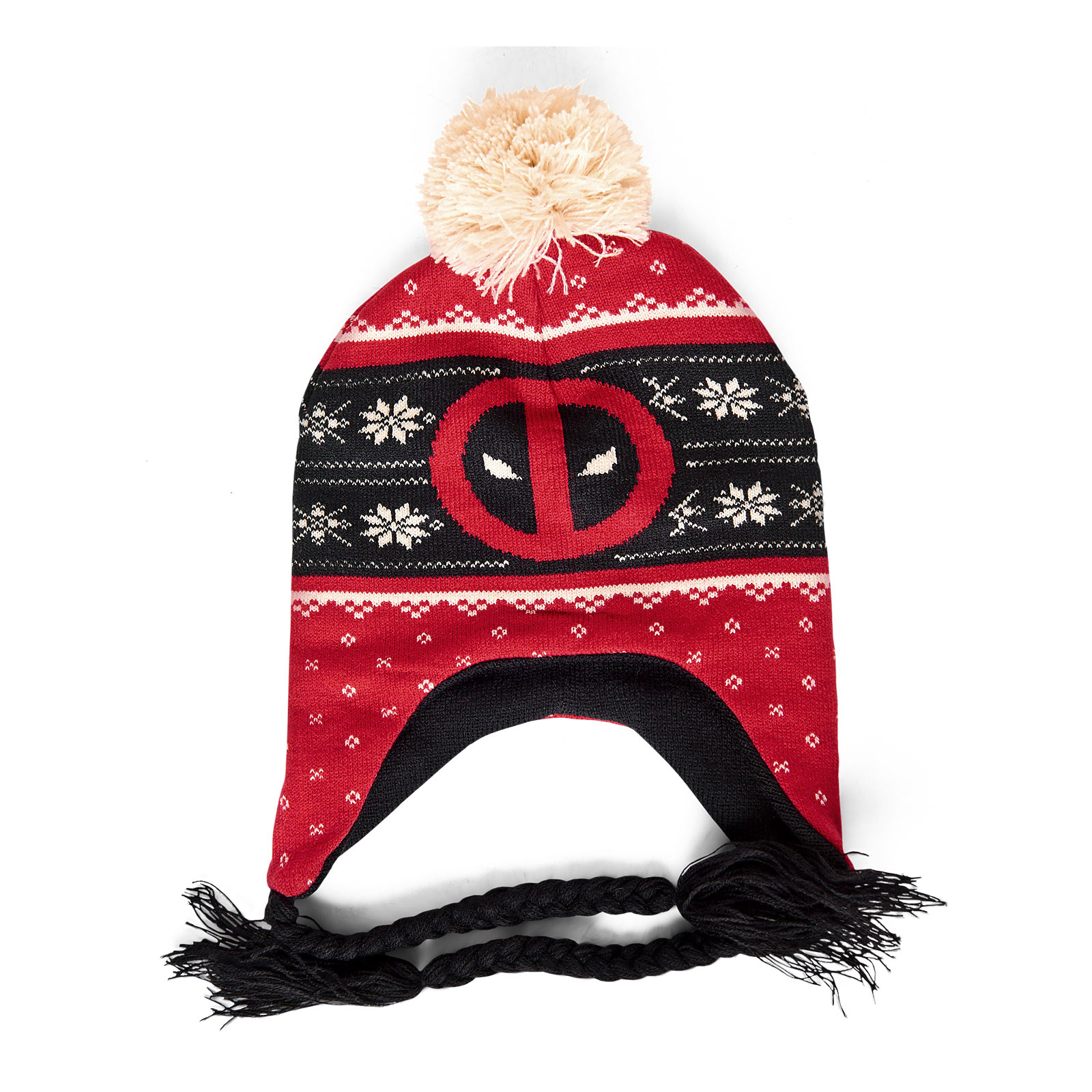 Deadpool - Logo Mütze mit Bommeln