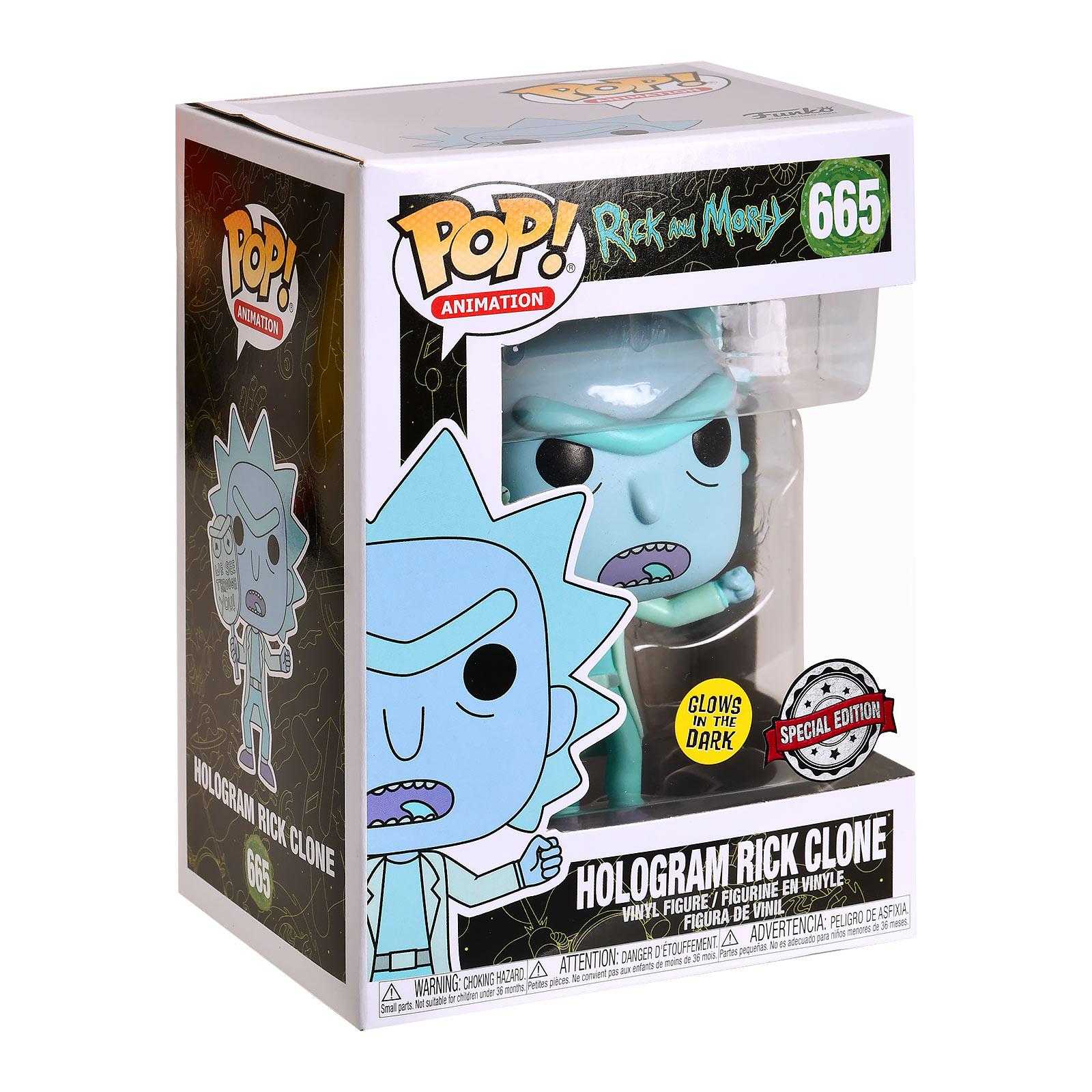 Rick and Morty - Rick Glow in the Dark Funko Pop Figur