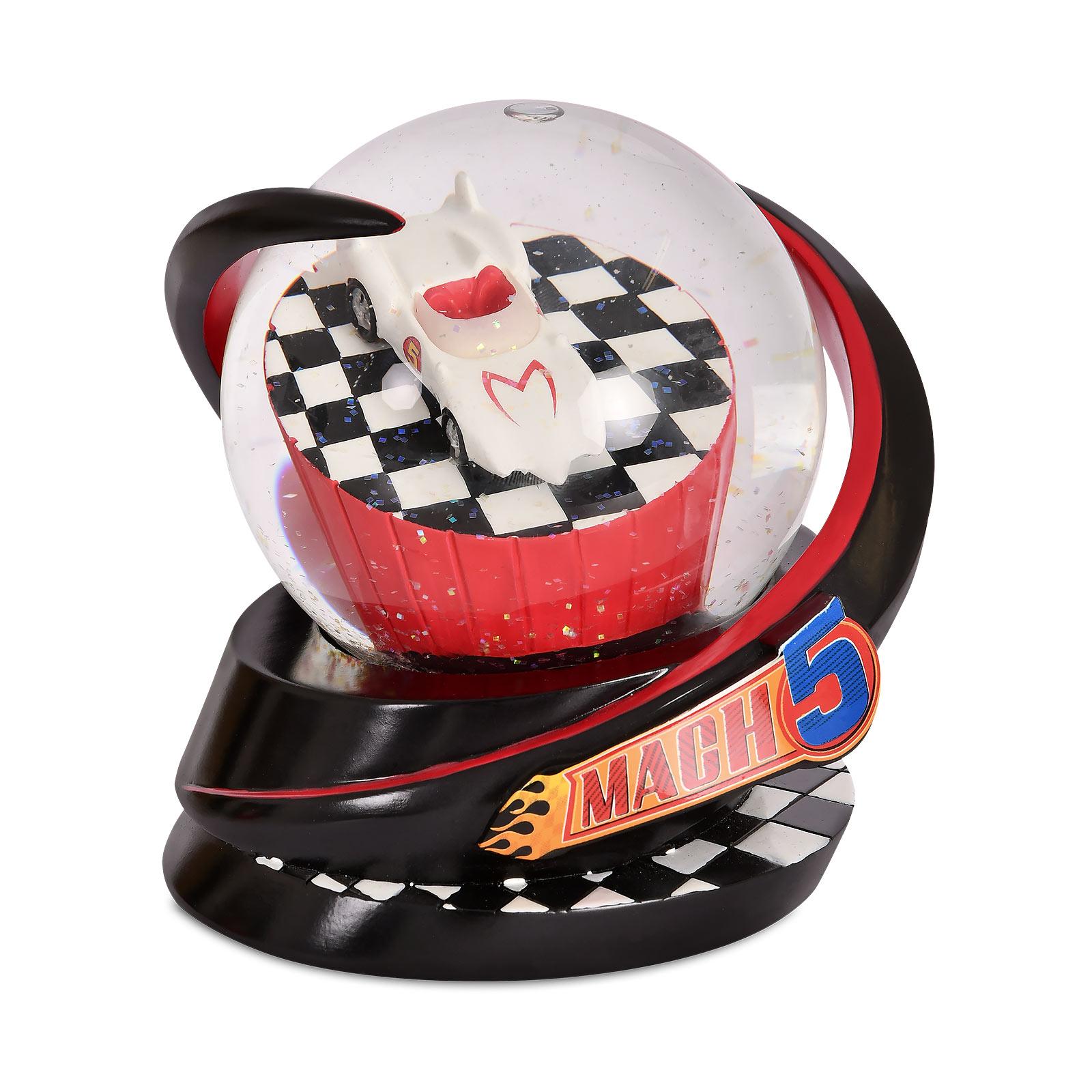 Speed Racer - Mach 5 Schneekugel mit Glitter