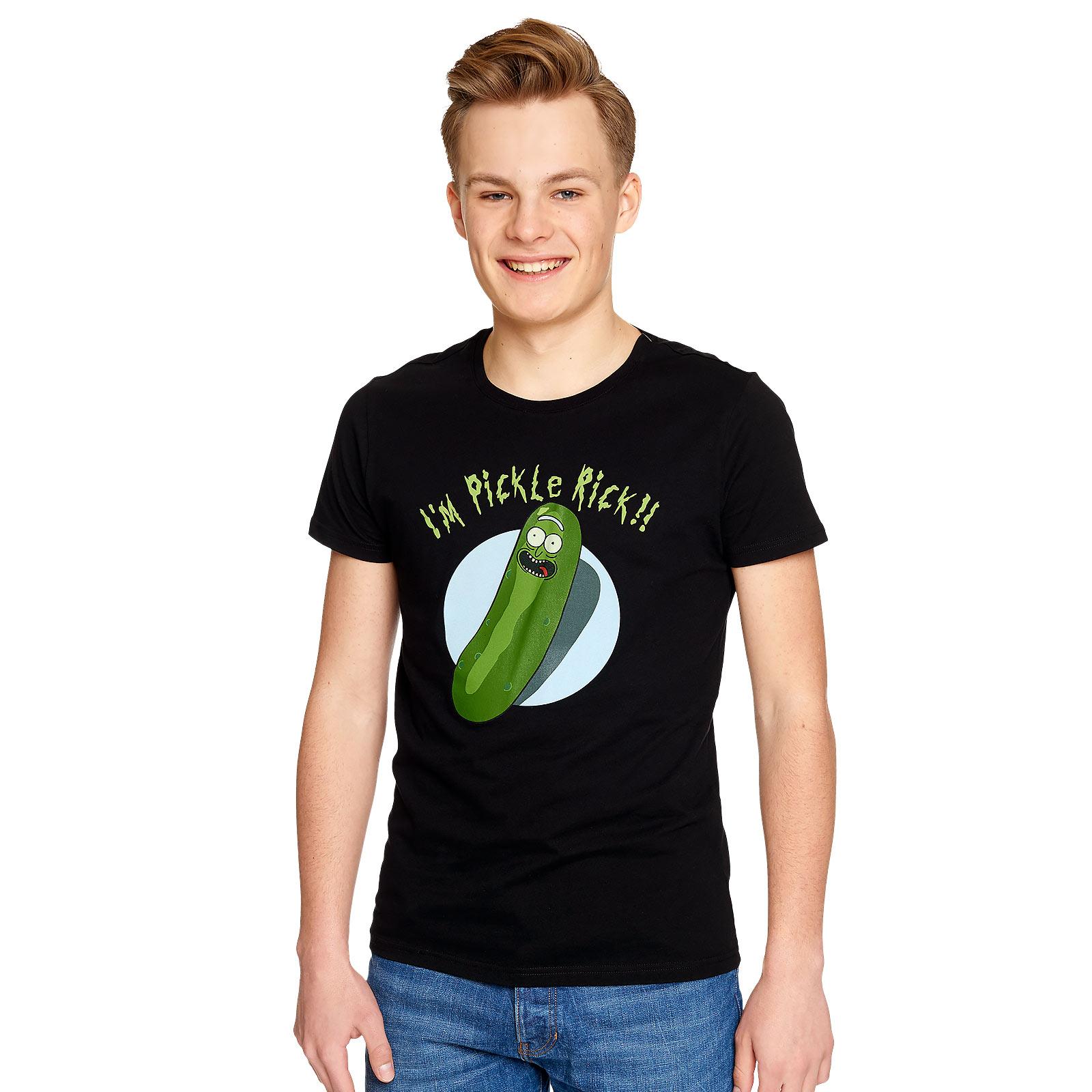 Rick and Morty - Pickle Rick T-Shirt schwarz