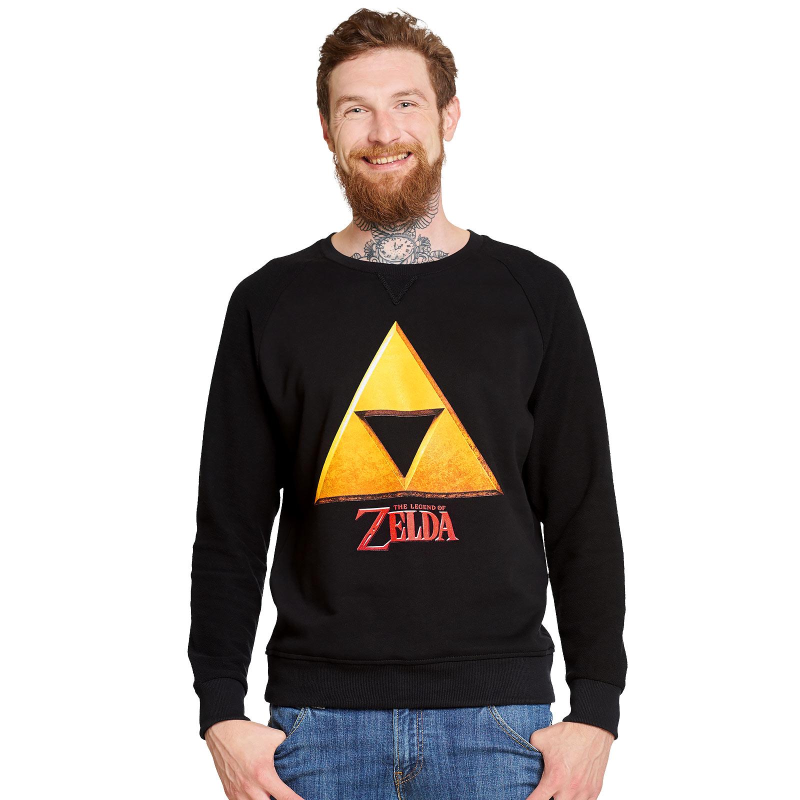 Zelda - Triforce Hyrule Logo Sweater schwarz