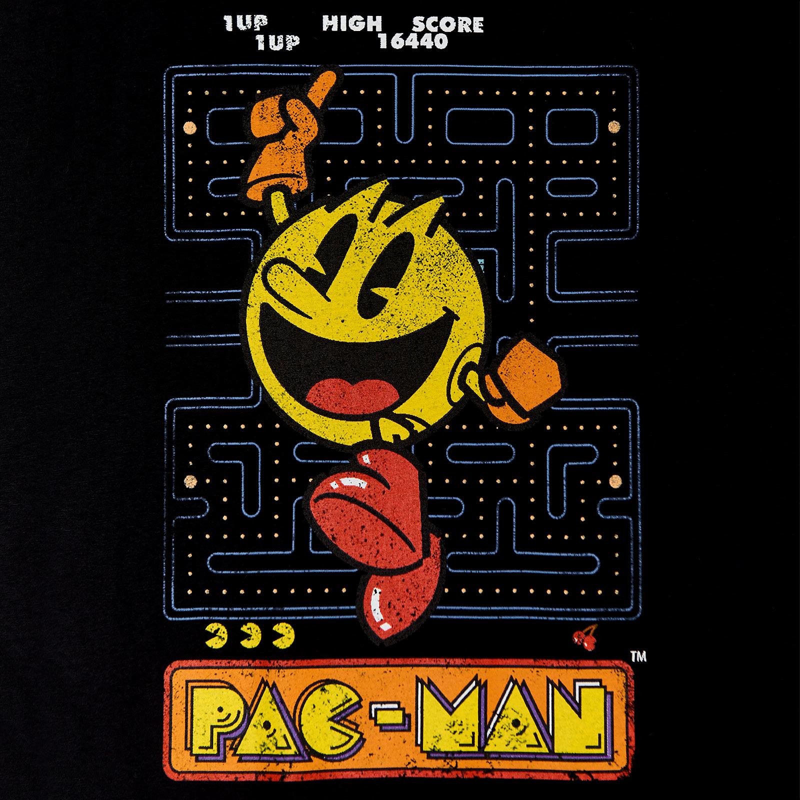 Pac-Man - Retro T-Shirt schwarz