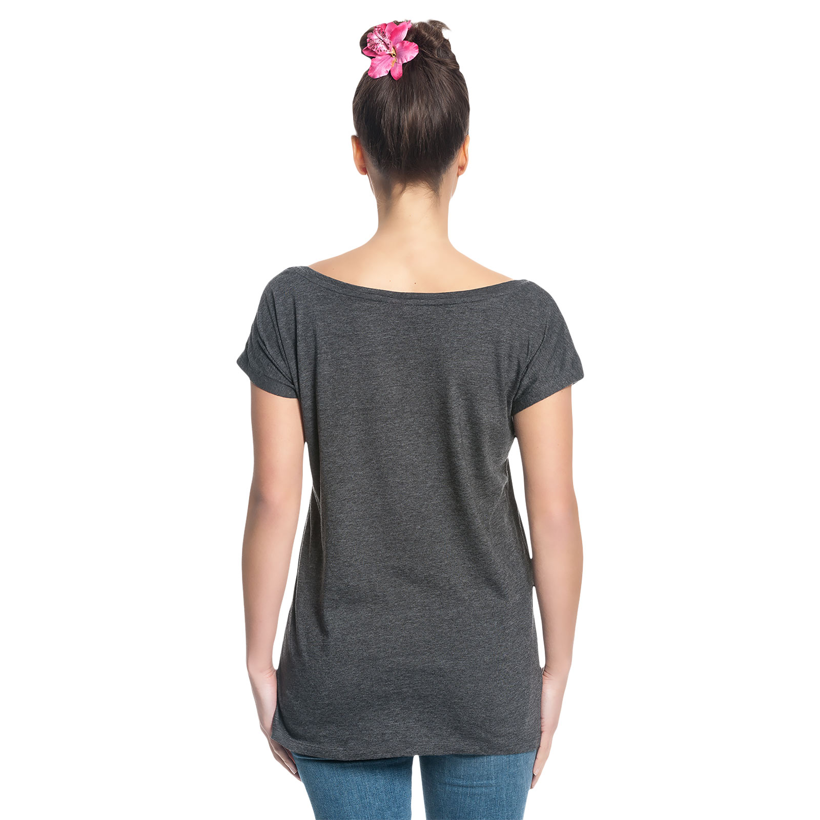 Alice im Wunderland - Wonderland T-Shirt Damen Loose Fit grau
