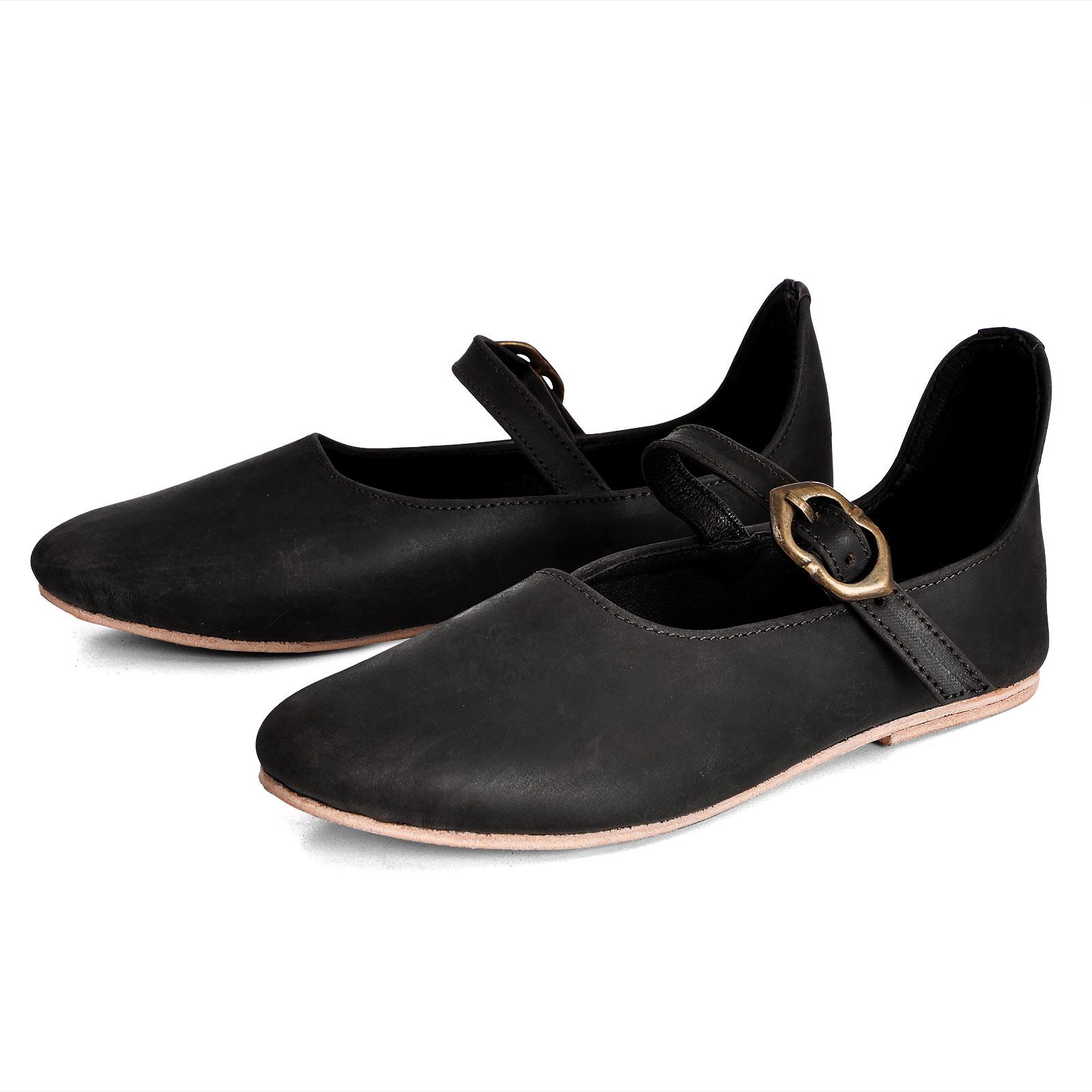 Mittelalter Schuhe Cecilie Damen schwarz