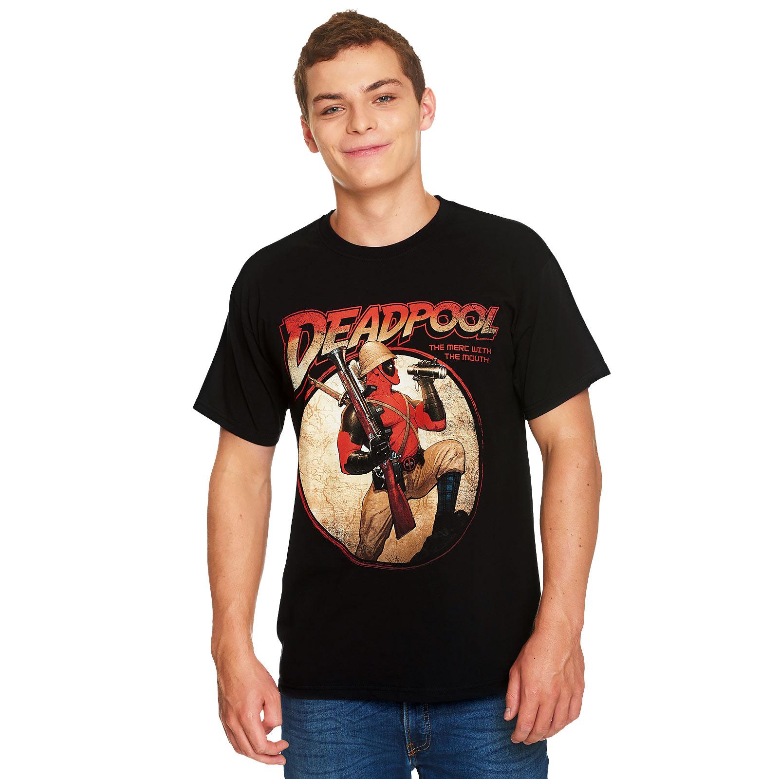 Deadpool - Time for Adventures T-Shirt schwarz