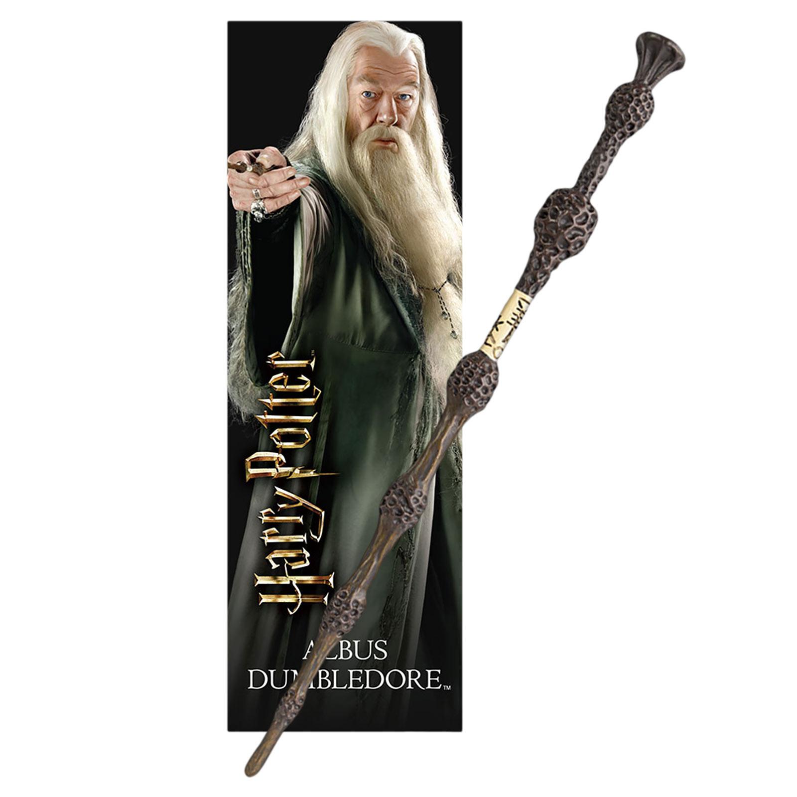 Dumbledore Zauberstab für Jungzauberer mit Lesezeichen - Harry Potter