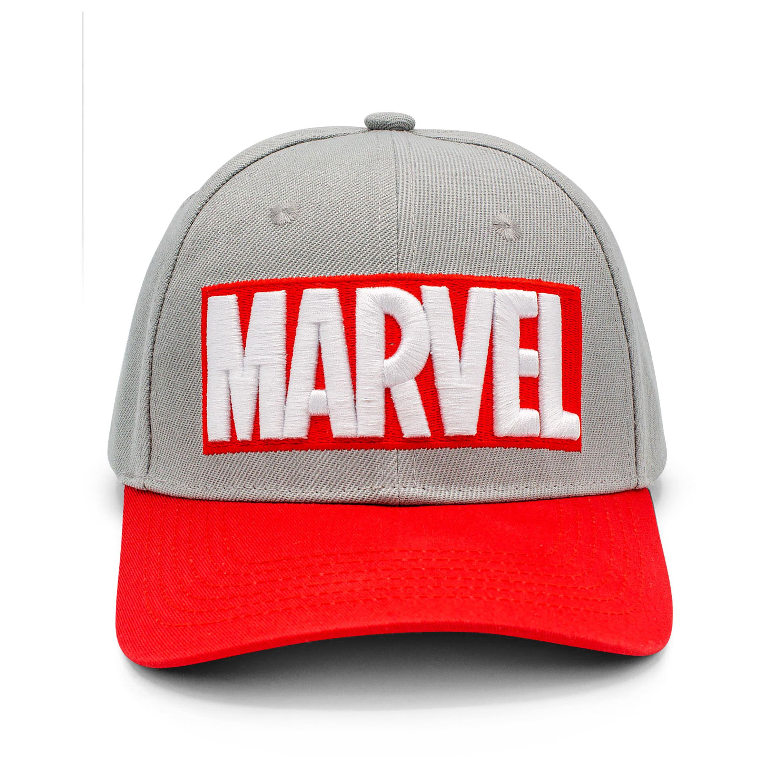 Marvel - Logo Basecap grau-rot