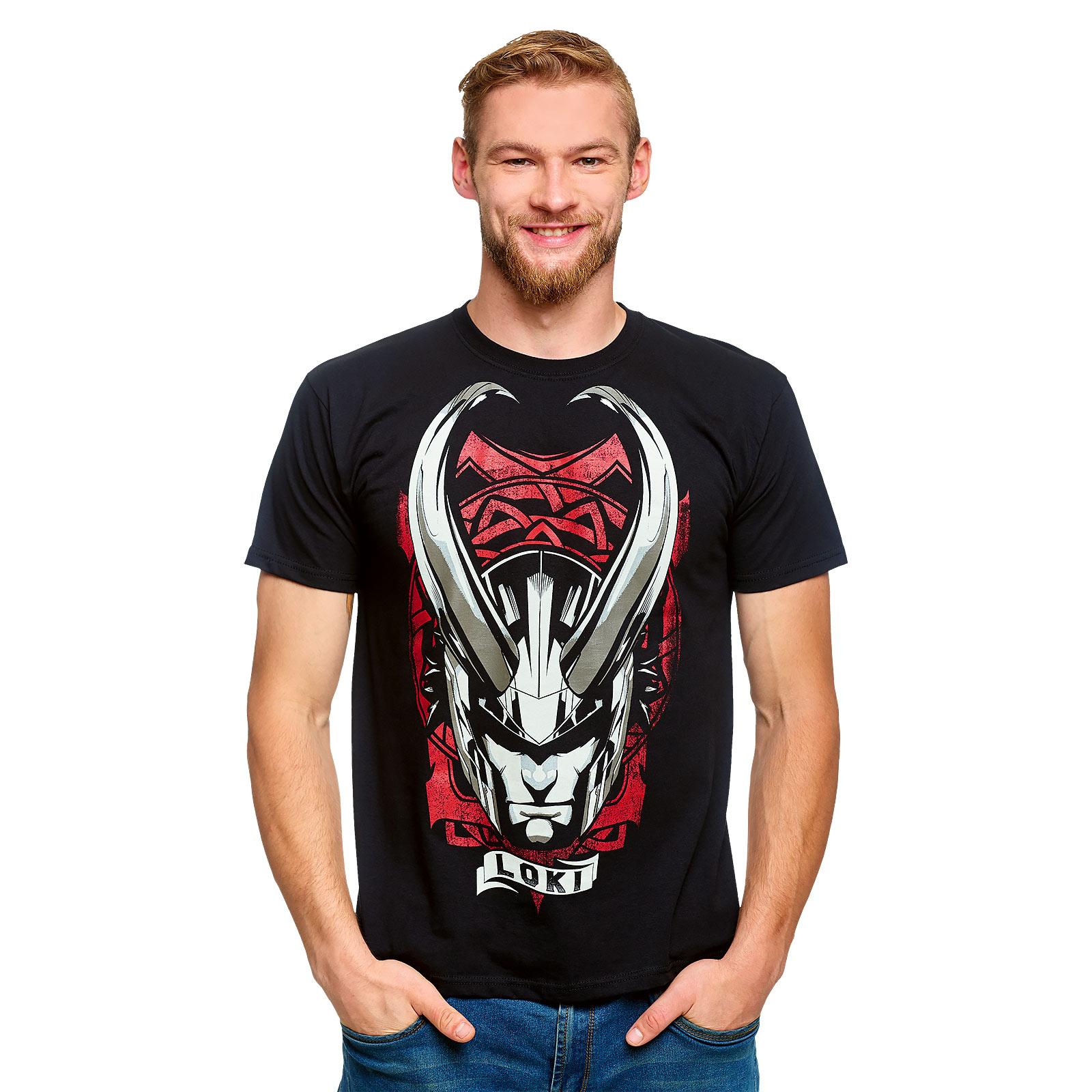 Loki - Horned Helmet T-Shirt schwarz