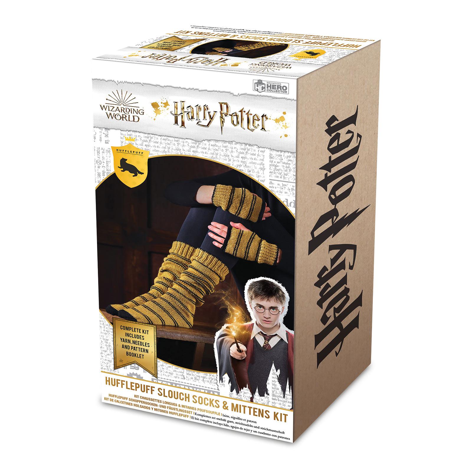 Harry Potter - Hufflepuff Handschuhe & Strümpfe Strick-Set