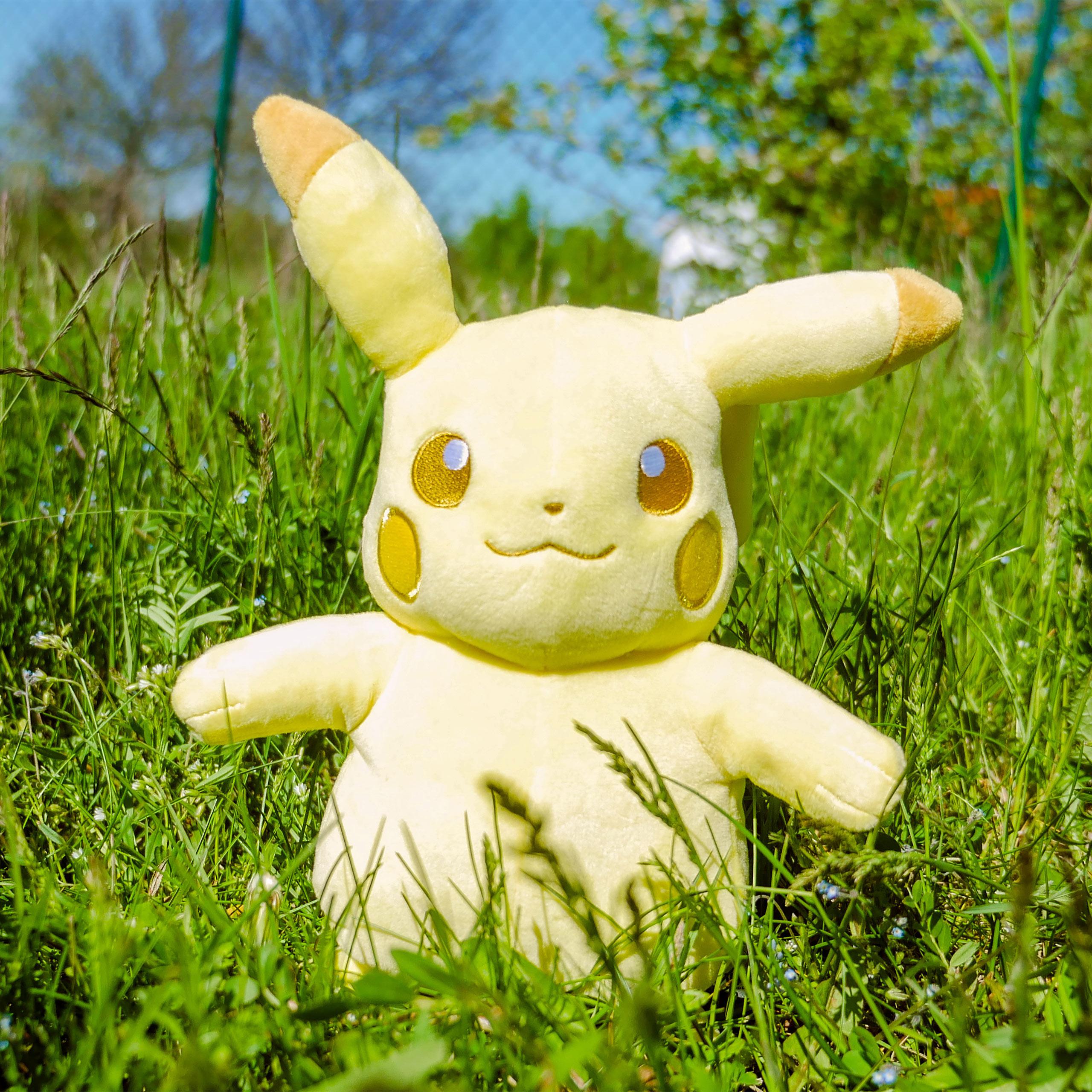 Pokemon - Pikachu Monochrom Plüsch Figur 24 cm