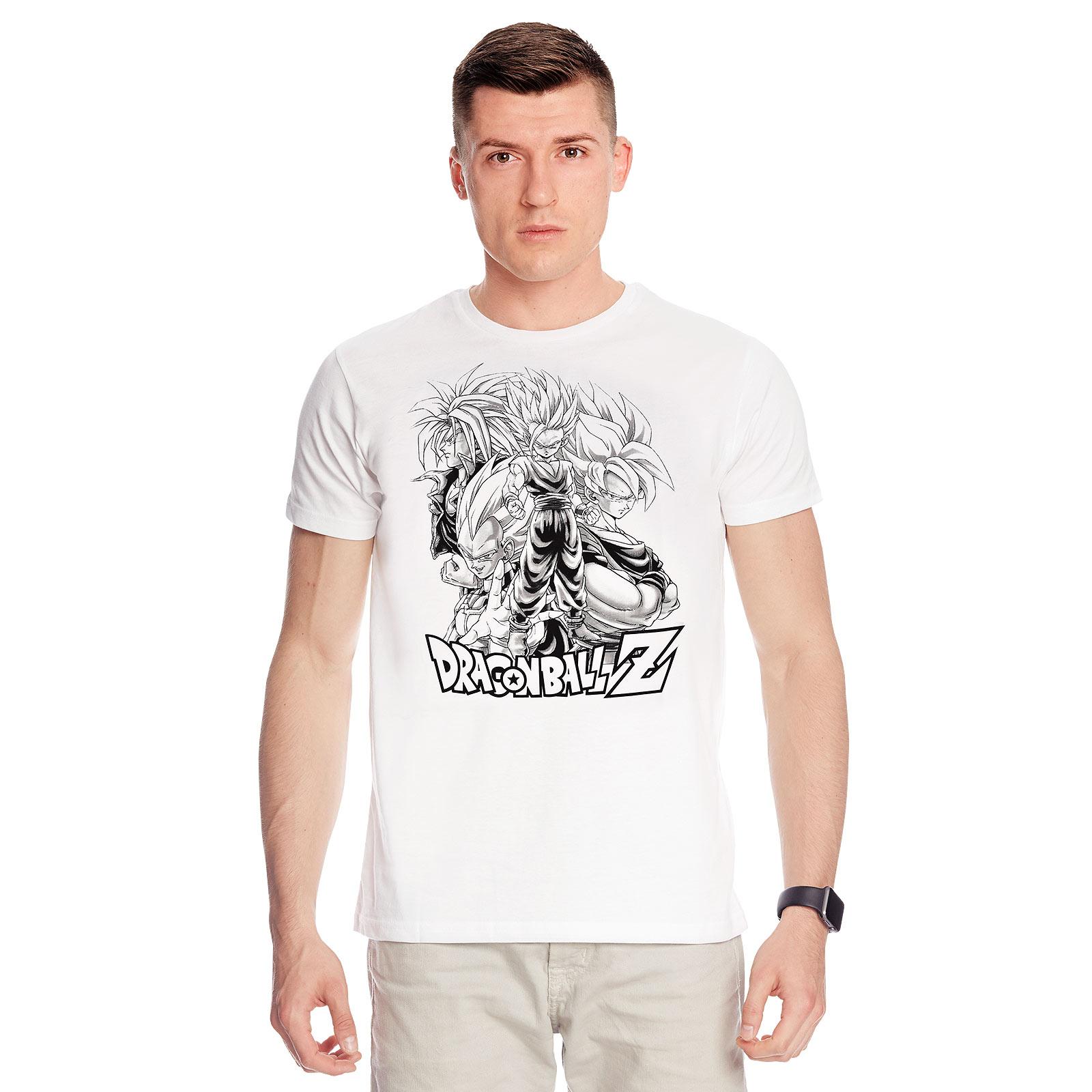 Dragon Ball - Saiyajin Group T-Shirt weiß